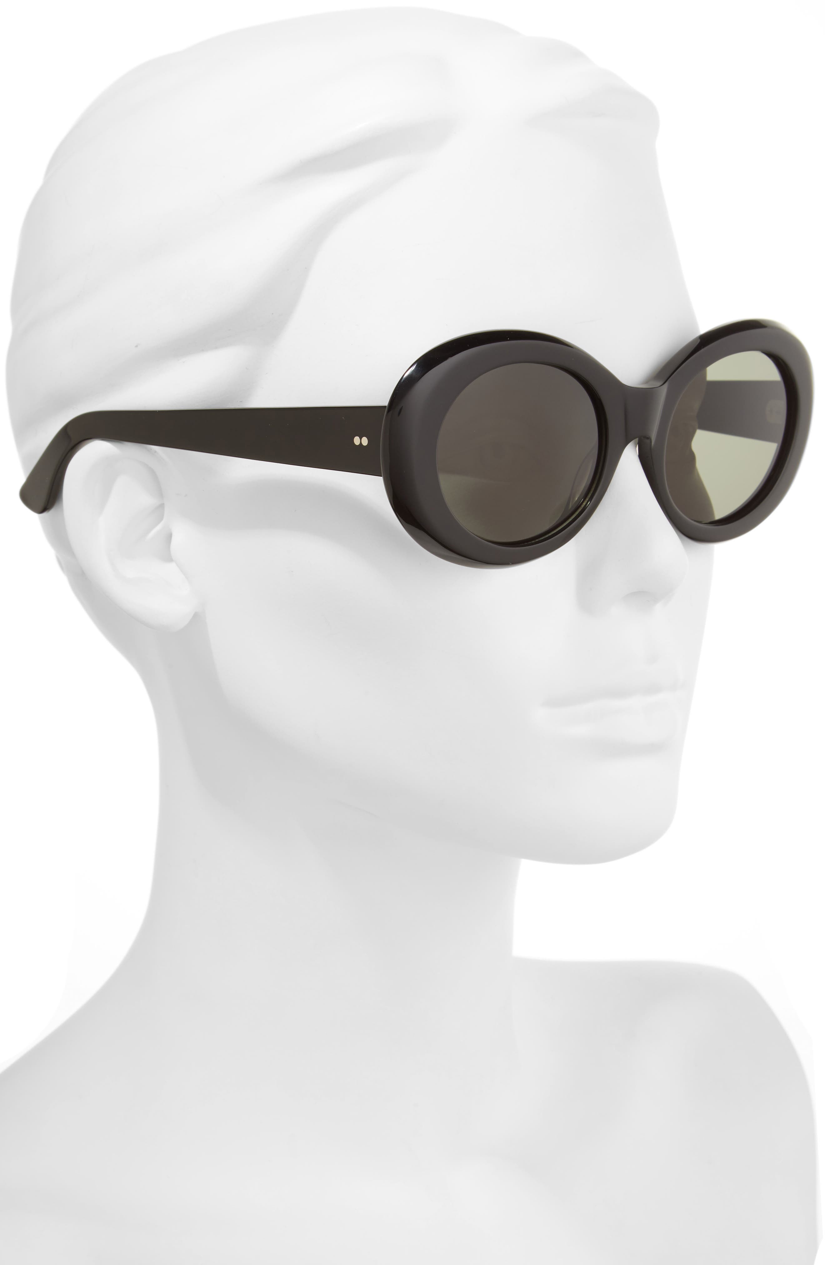 x Alex Knost Luxury Wig Figurative 53mm Sunglasses,                             Alternate thumbnail 2, color,                             001