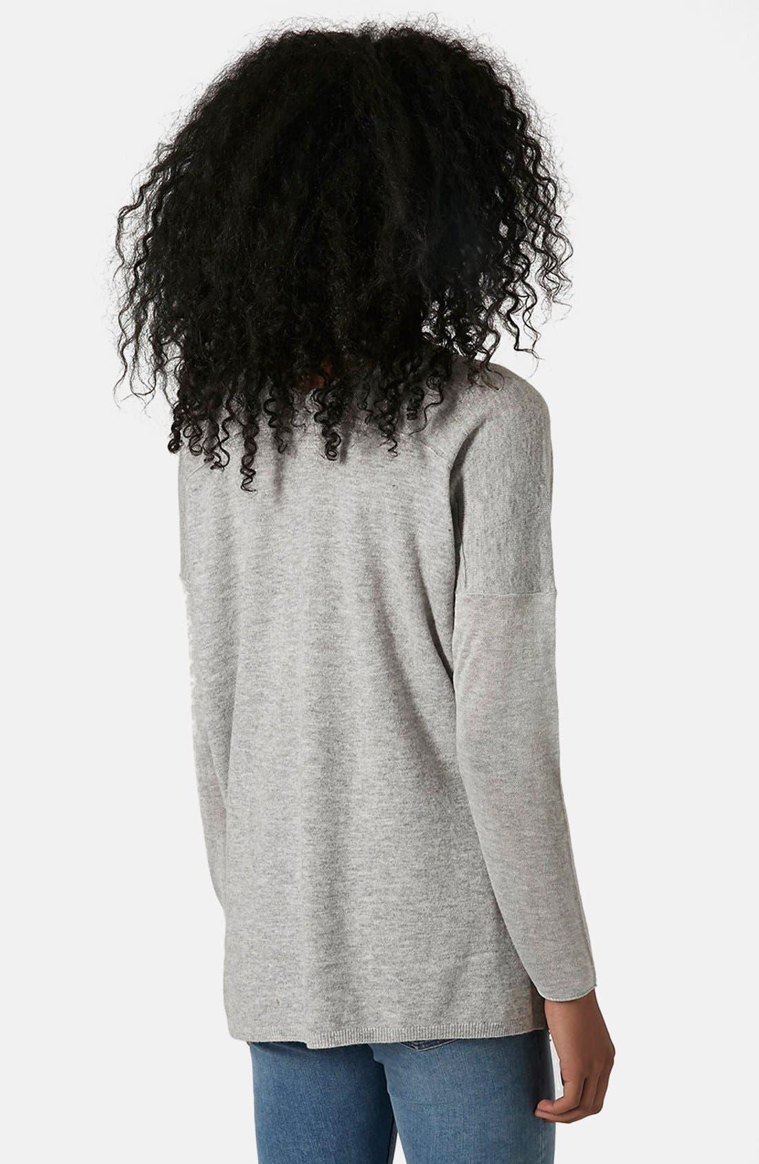 Front Seam V-Neck Sweater,                             Alternate thumbnail 3, color,                             050