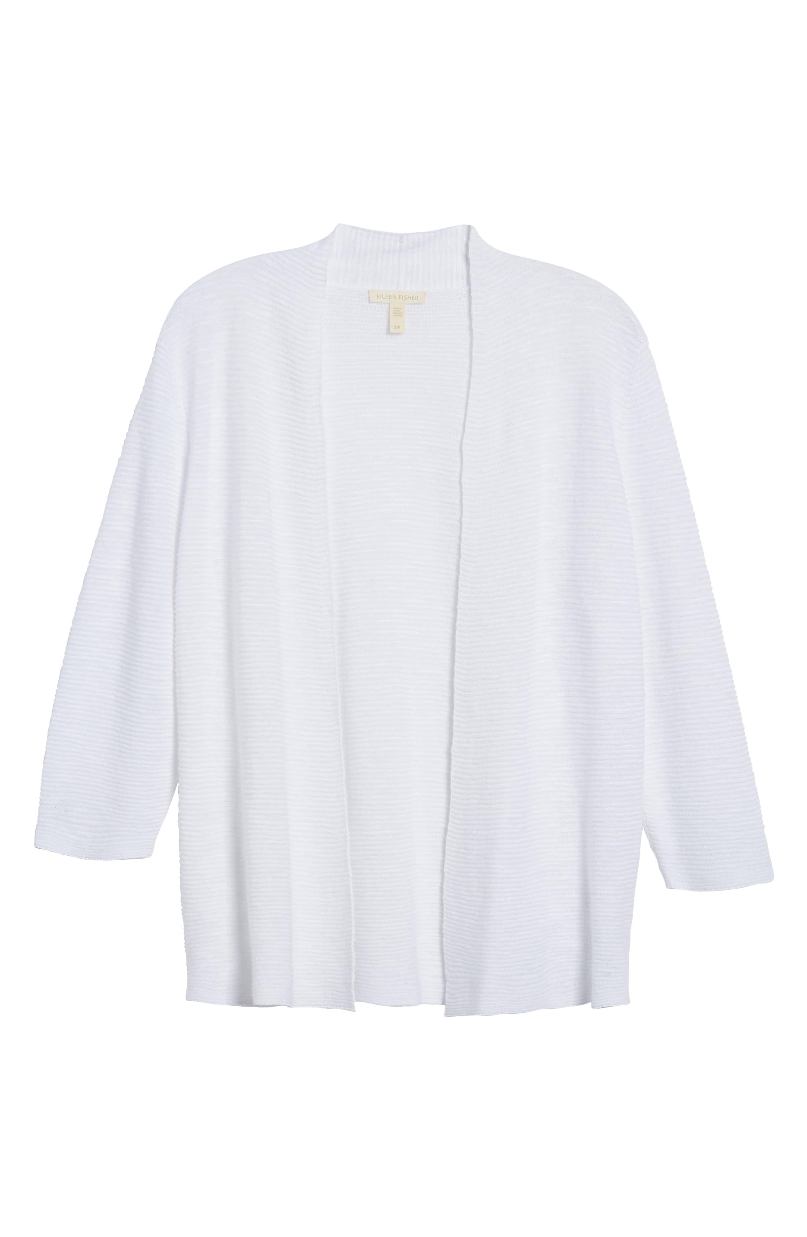 Simple Organic Linen & Cotton Cardigan,                             Alternate thumbnail 17, color,