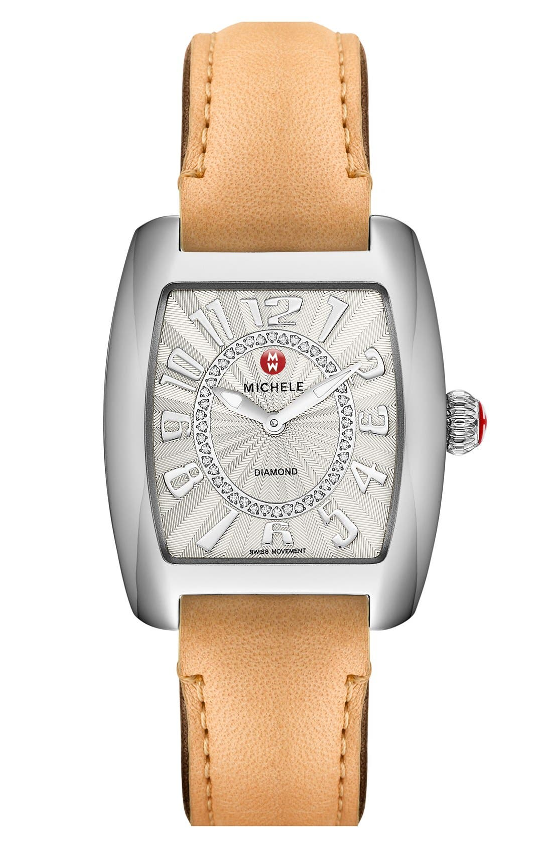 Urban Mini Diamond Dial Watch Case, 29mm x 30mm,                             Alternate thumbnail 6, color,                             SILVER/ SILVER