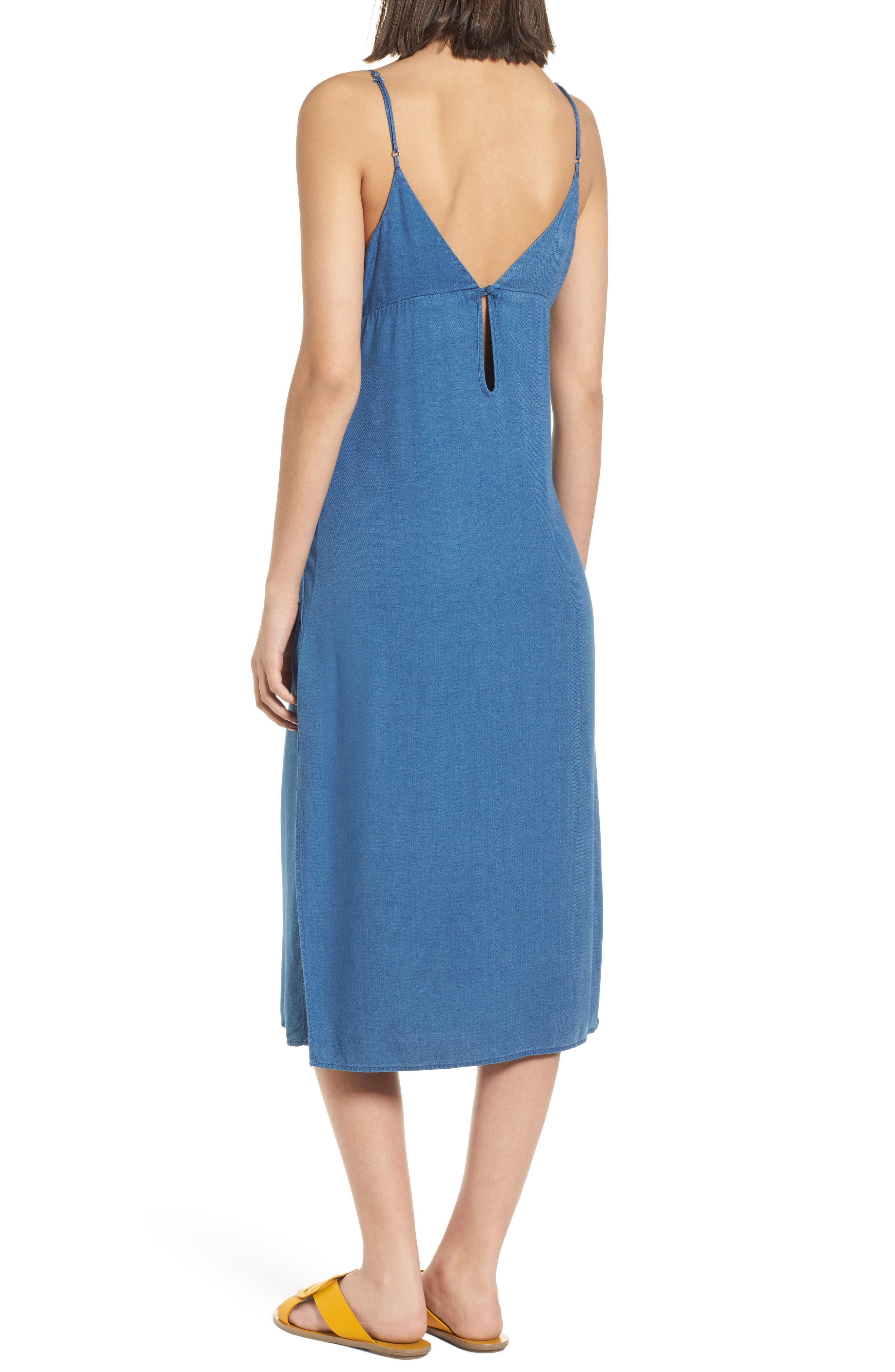 Chambray Camisole Dress,                             Alternate thumbnail 2, color,