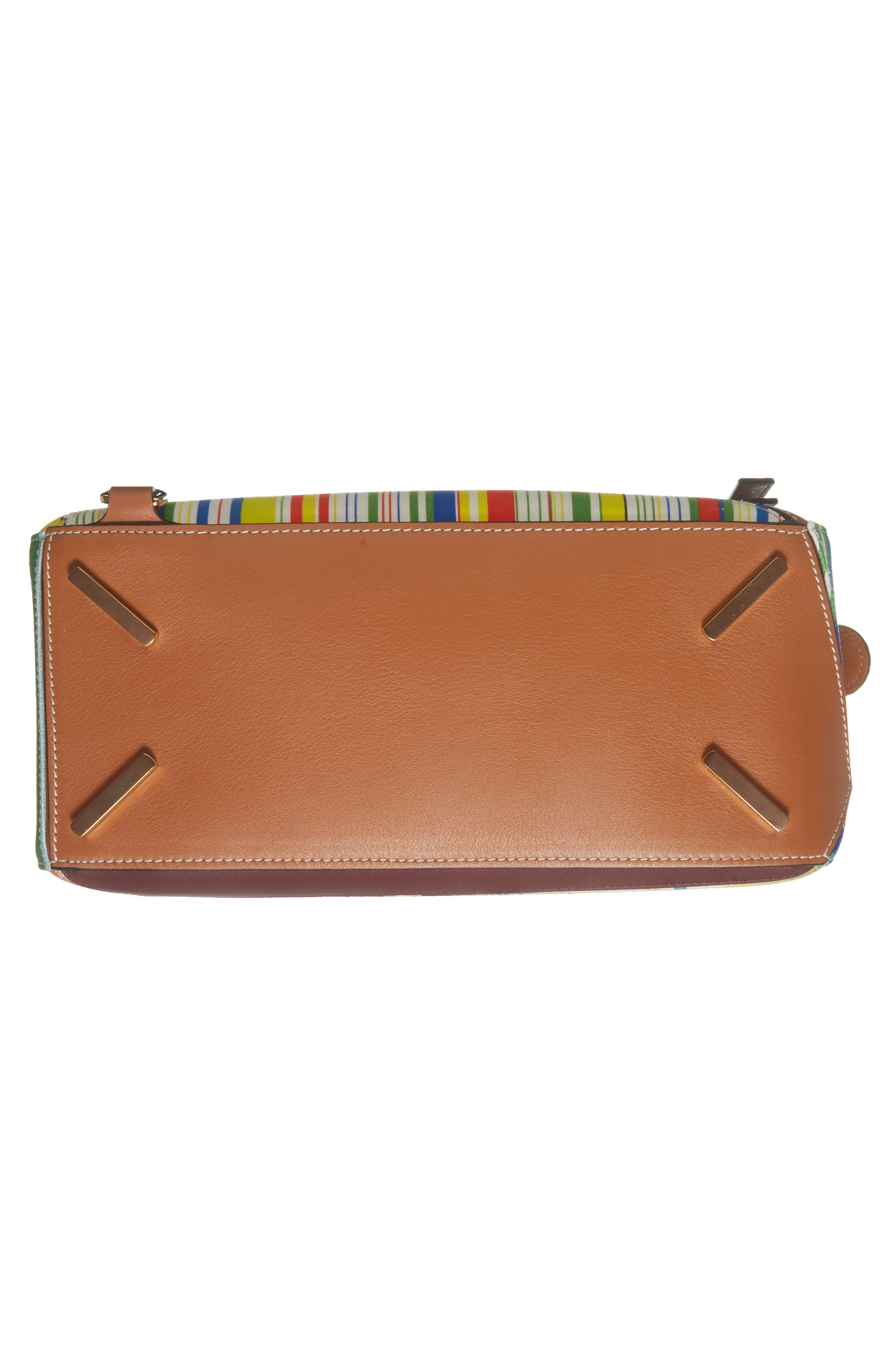 Medium Puzzle Stripe Canvas & Leather Shoulder Bag,                             Alternate thumbnail 7, color,