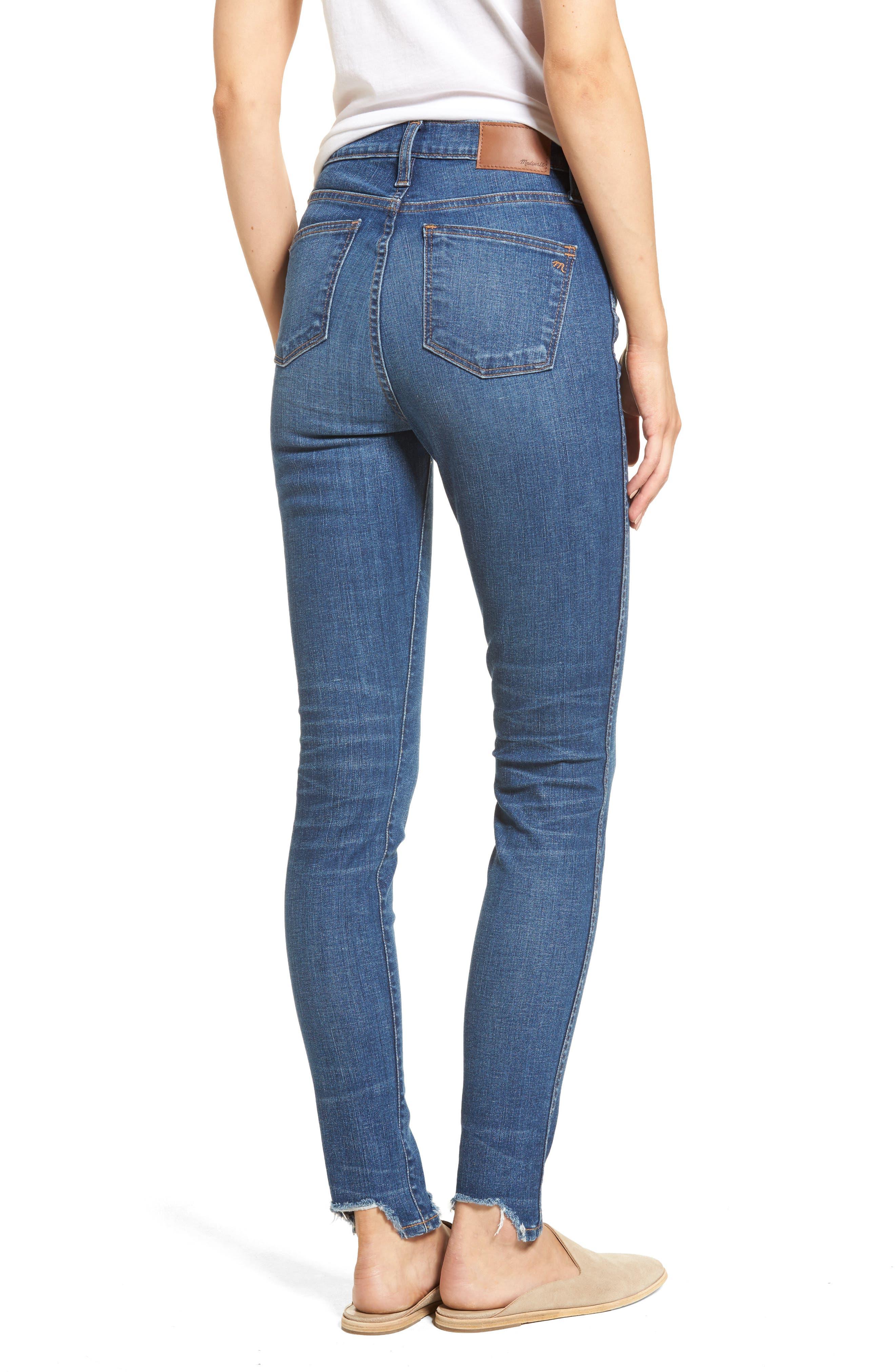 10-Inch Chewed Hem Skinny Jeans,                             Alternate thumbnail 2, color,                             400