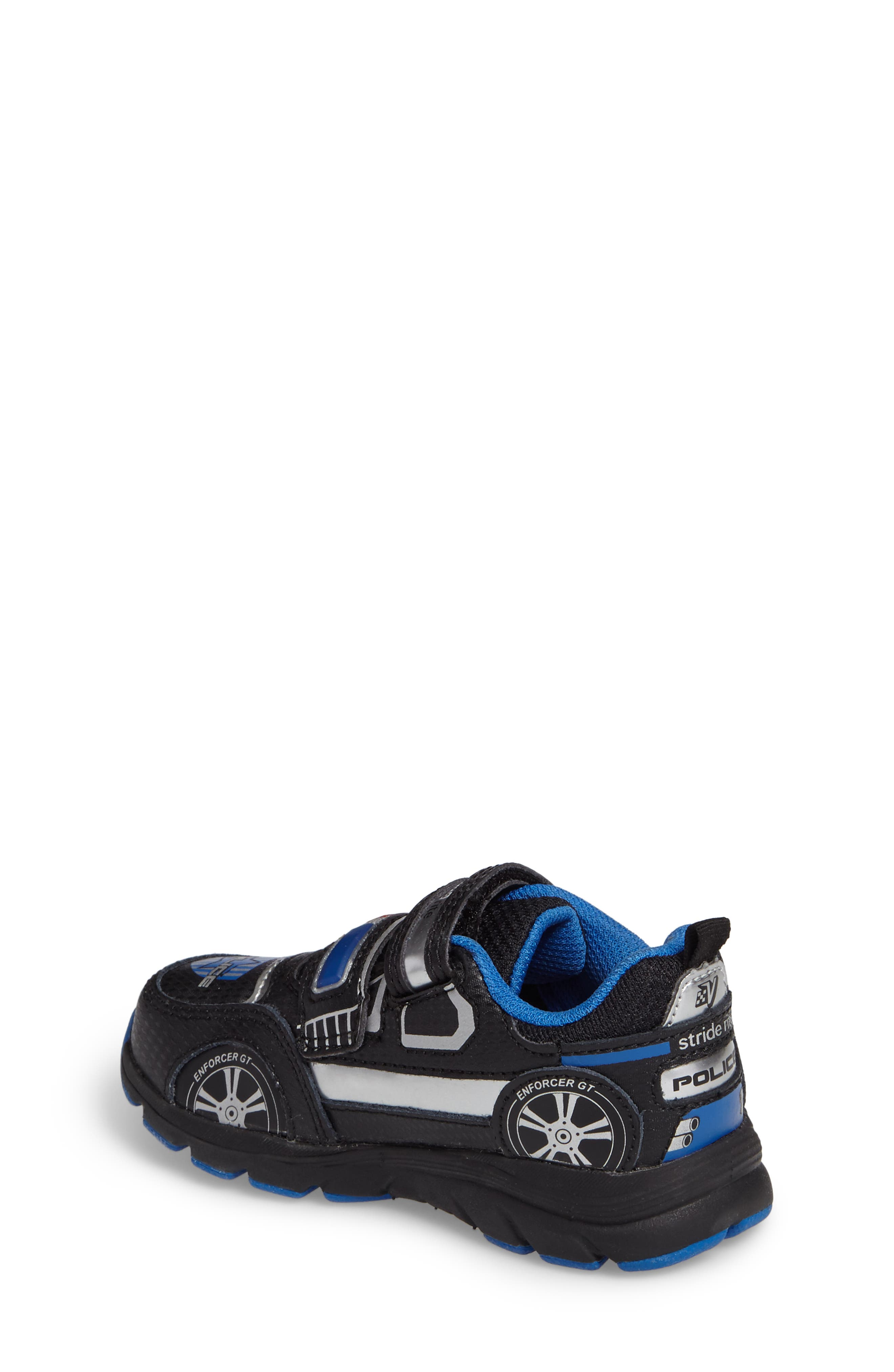 Vroomz Light-Up Police Car Sneaker,                             Alternate thumbnail 2, color,                             BLACK/ SILVER