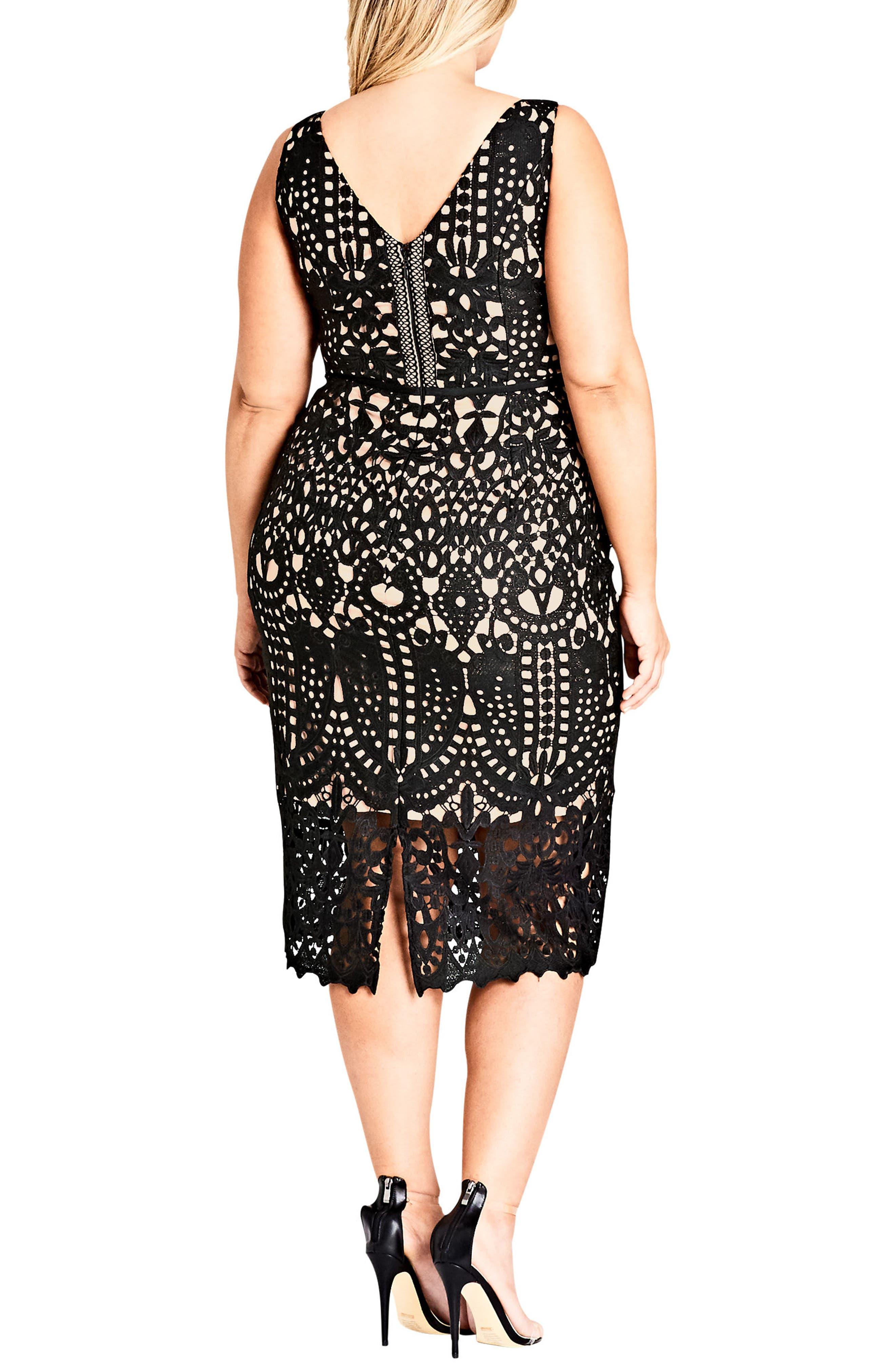 All Class Lace Sheath Dress,                             Alternate thumbnail 2, color,                             BLACK