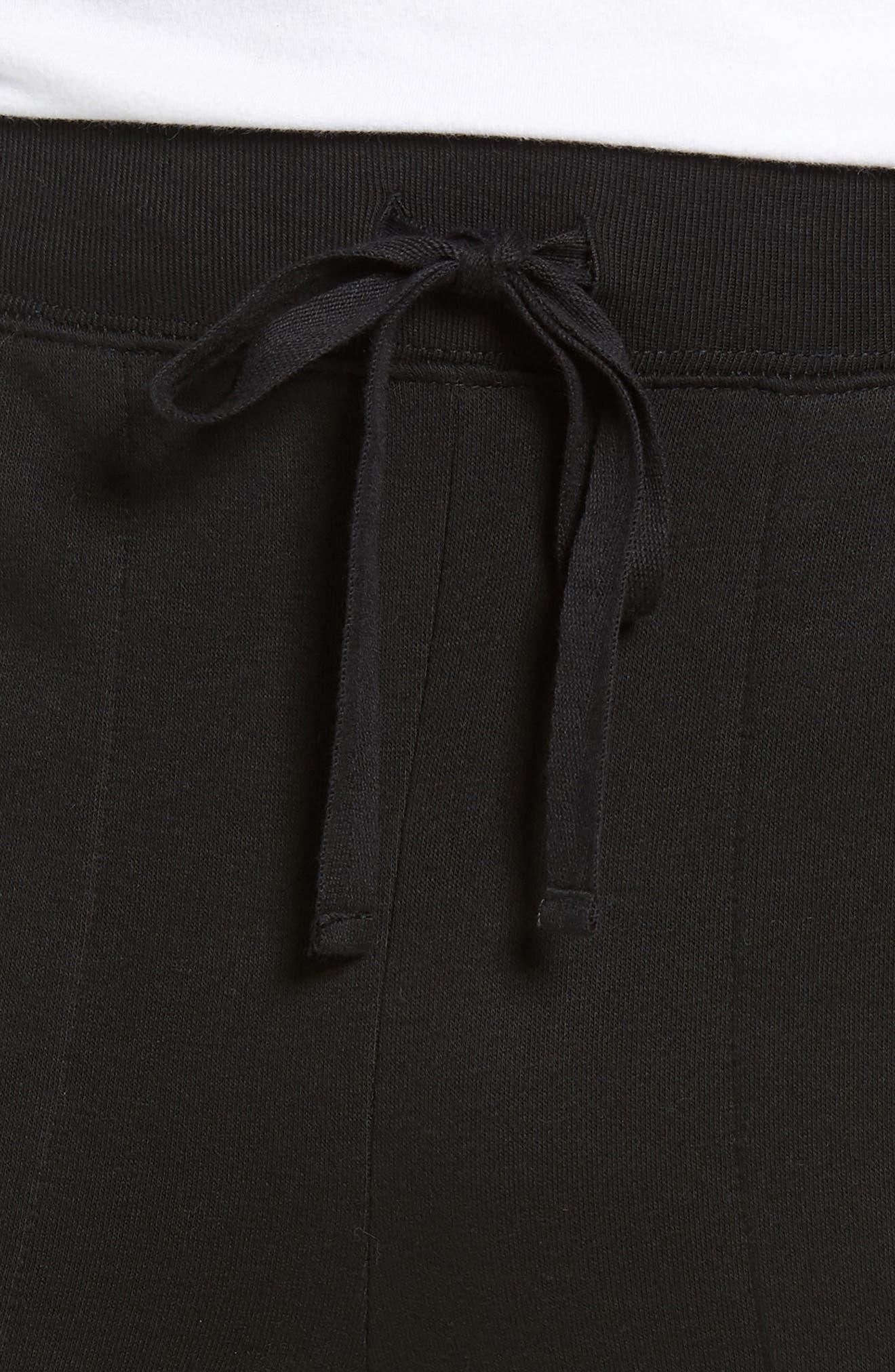 POLO RALPH LAUREN,                             Brushed Jersey Cotton Blend Jogger Pants,                             Alternate thumbnail 4, color,                             POLO BLACK