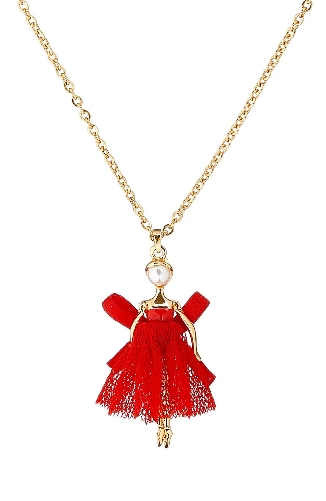 Carabel Ballerina Pendant Necklace,                             Alternate thumbnail 8, color,