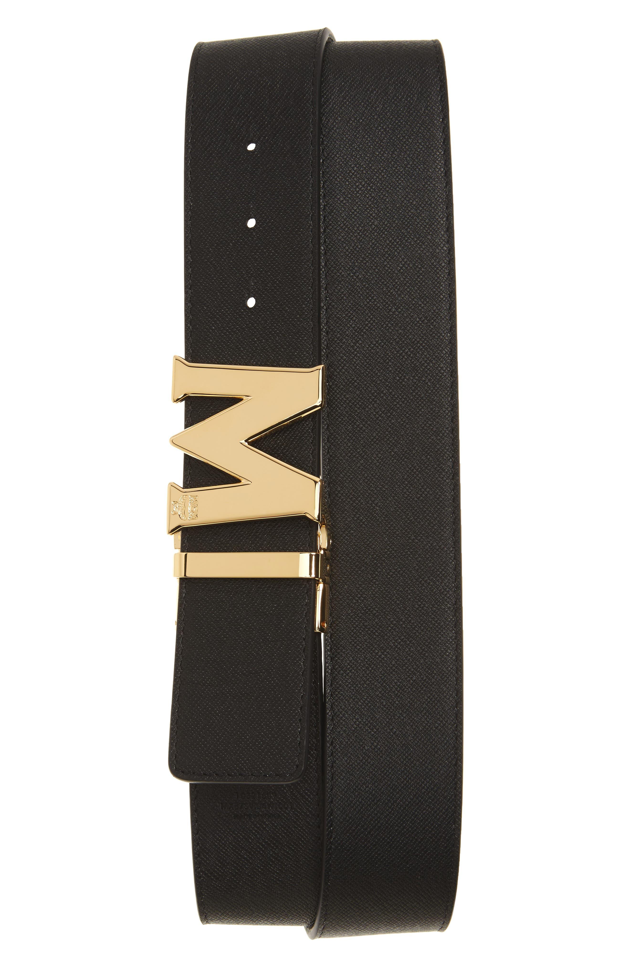 Reversible Signature Leather Belt,                             Alternate thumbnail 2, color,                             WHITE