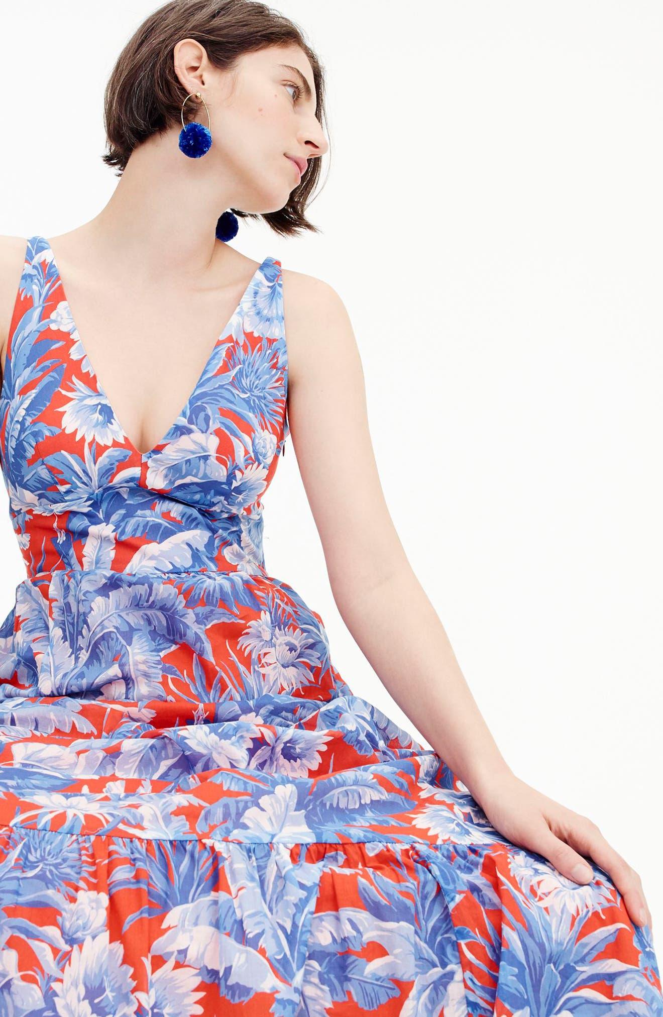 Ratti V-Neck Maxi Dress,                             Alternate thumbnail 4, color,                             400