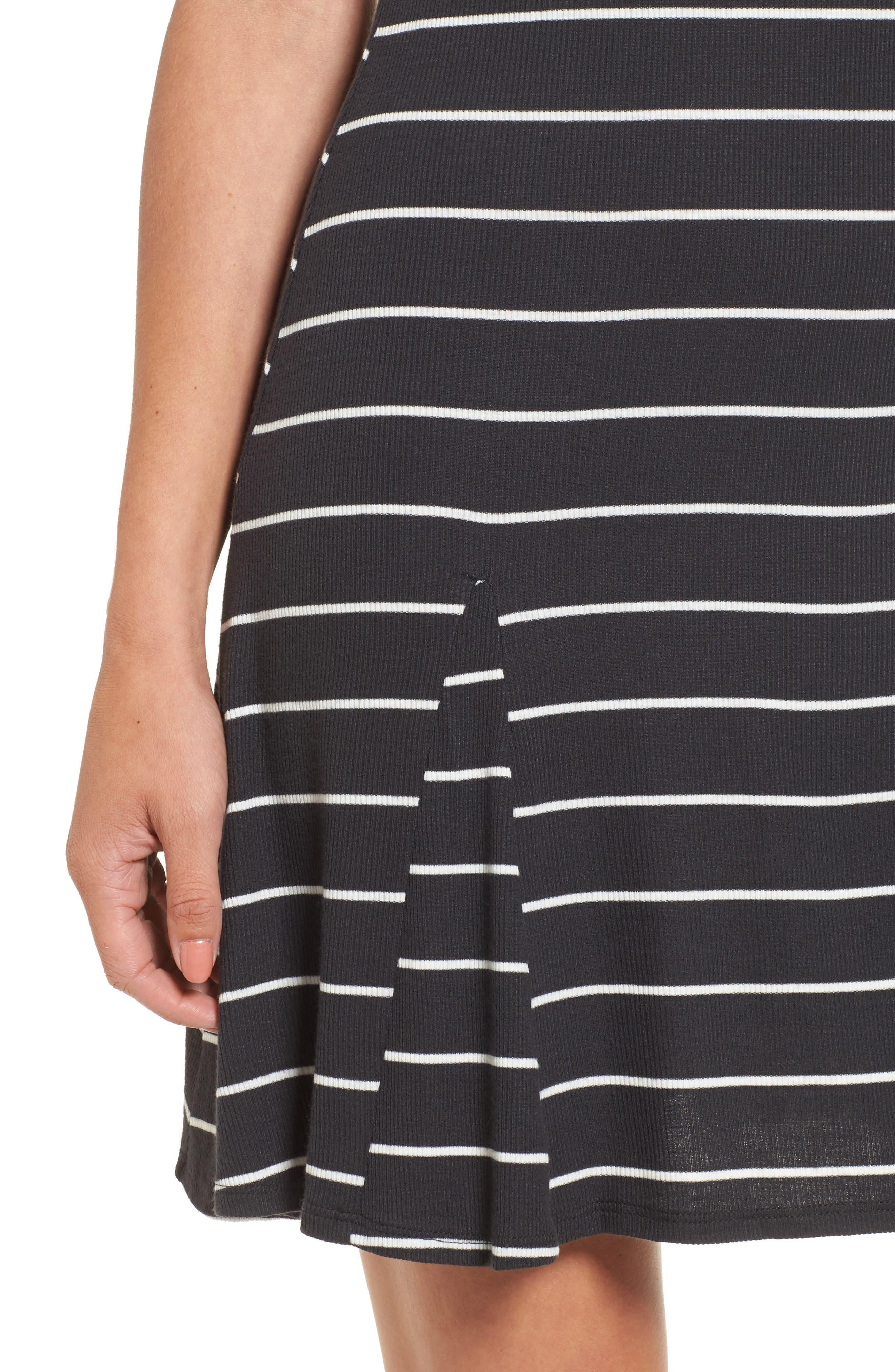 Rockin Down Stripe T-Shirt Dress,                             Alternate thumbnail 4, color,                             015