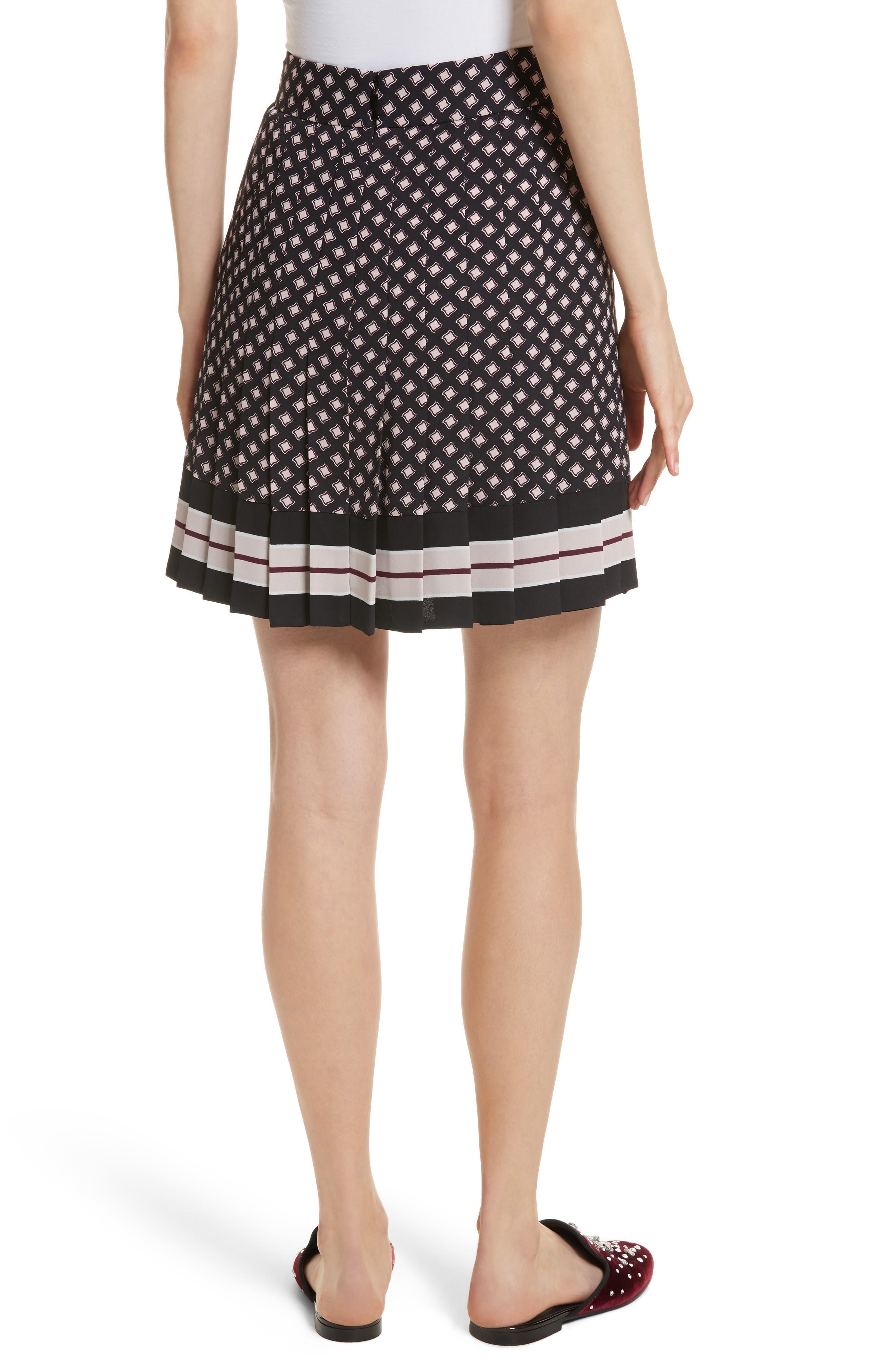 pleated skirt,                             Alternate thumbnail 2, color,
