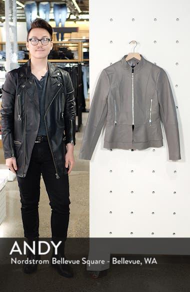 Thea Peplum Hem Leather Jacket, sales video thumbnail