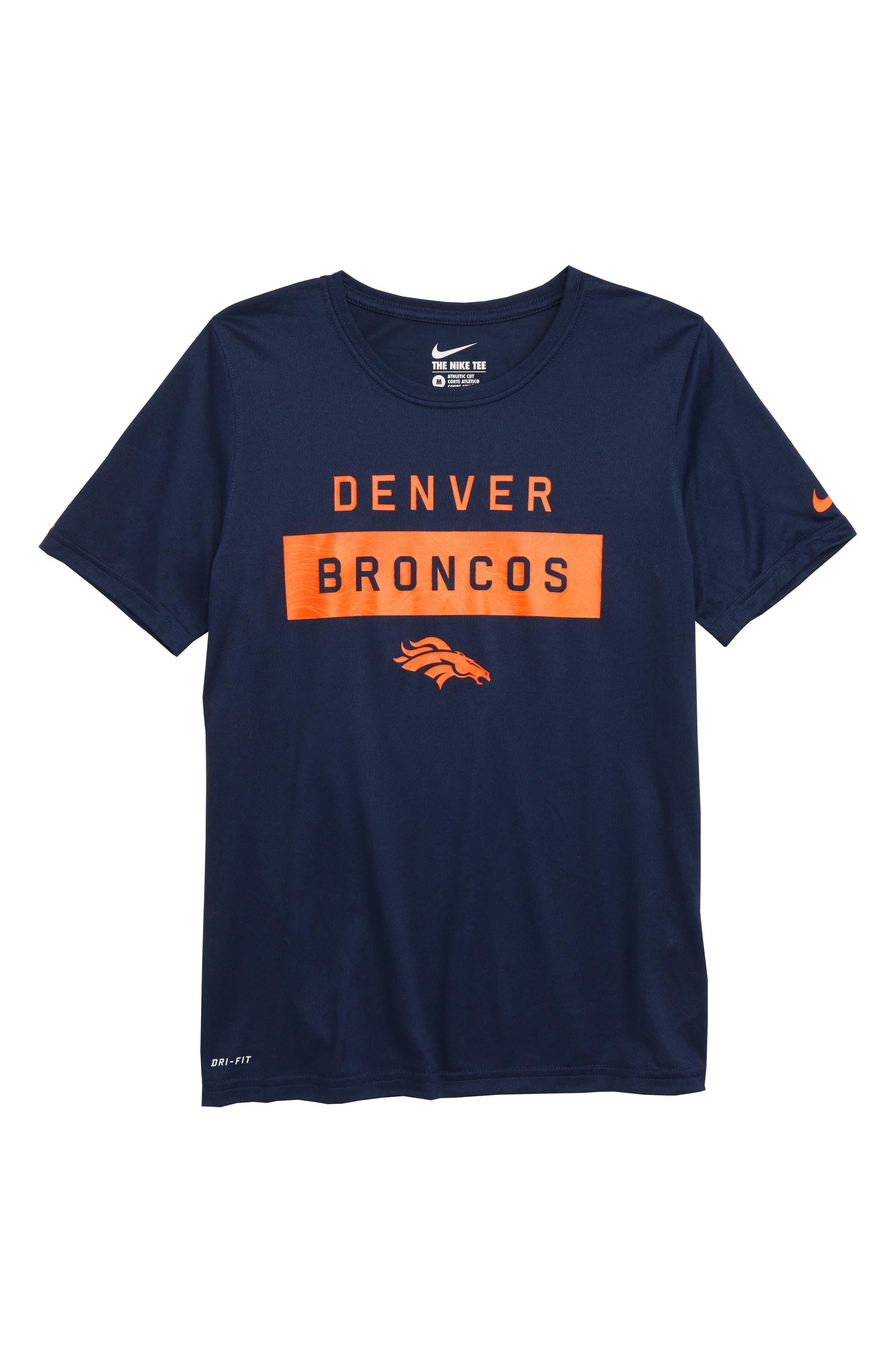 NFL Denver Broncos Dry Legend Lift T-Shirt,                             Main thumbnail 1, color,                             ORANGE