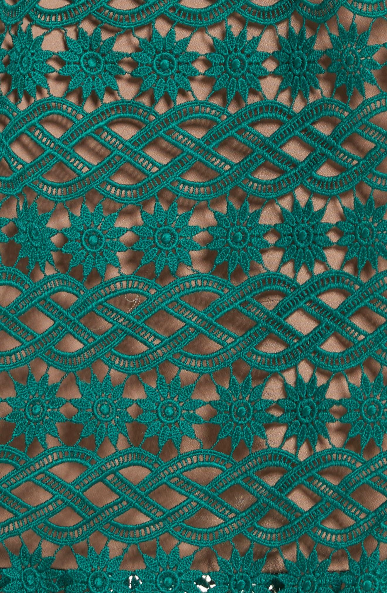 Lace One-Shoulder Midi Dress,                             Alternate thumbnail 5, color,                             300