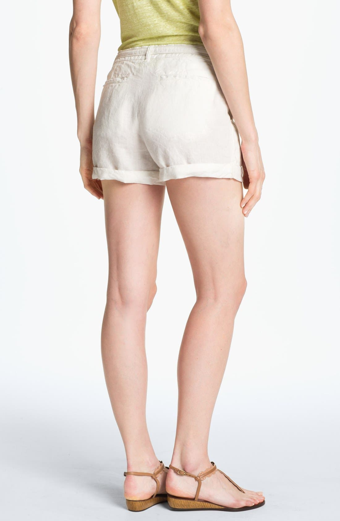 JOIE,                             'Jewell' Linen Shorts,                             Alternate thumbnail 2, color,                             114