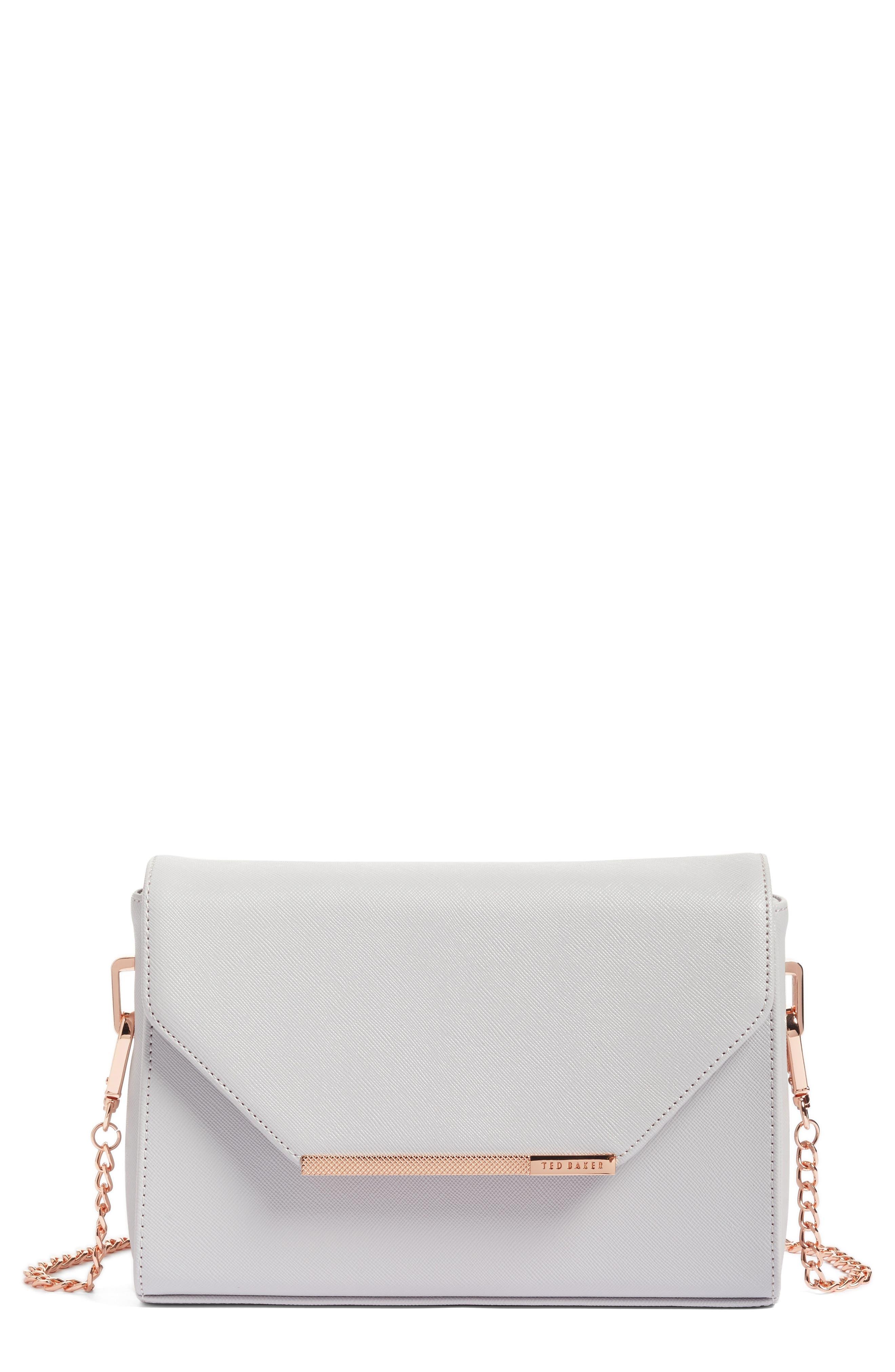 Textured Bar Faux Leather Crossbody Bag,                             Main thumbnail 1, color,                             050