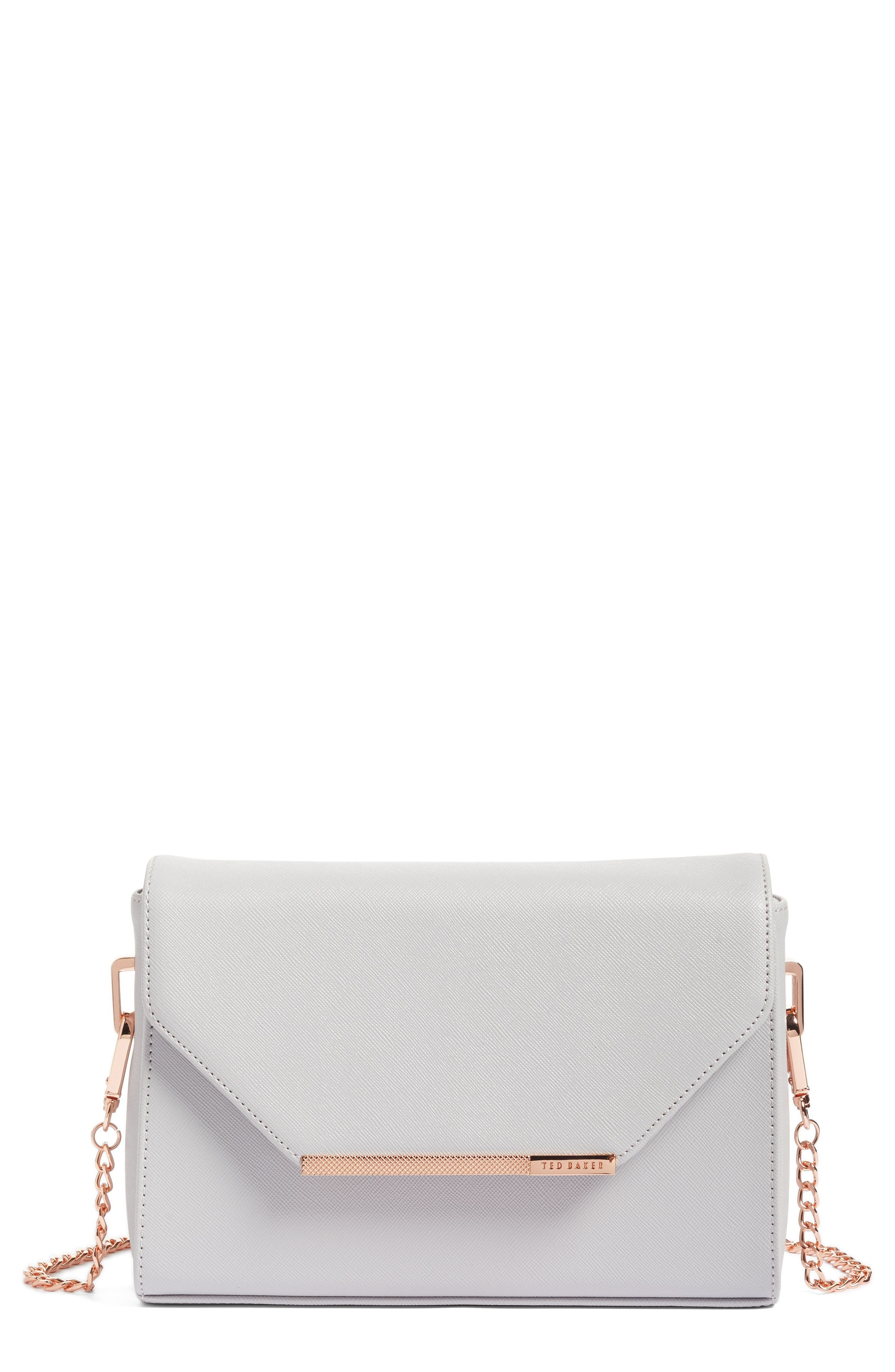 Textured Bar Faux Leather Crossbody Bag,                         Main,                         color, 050