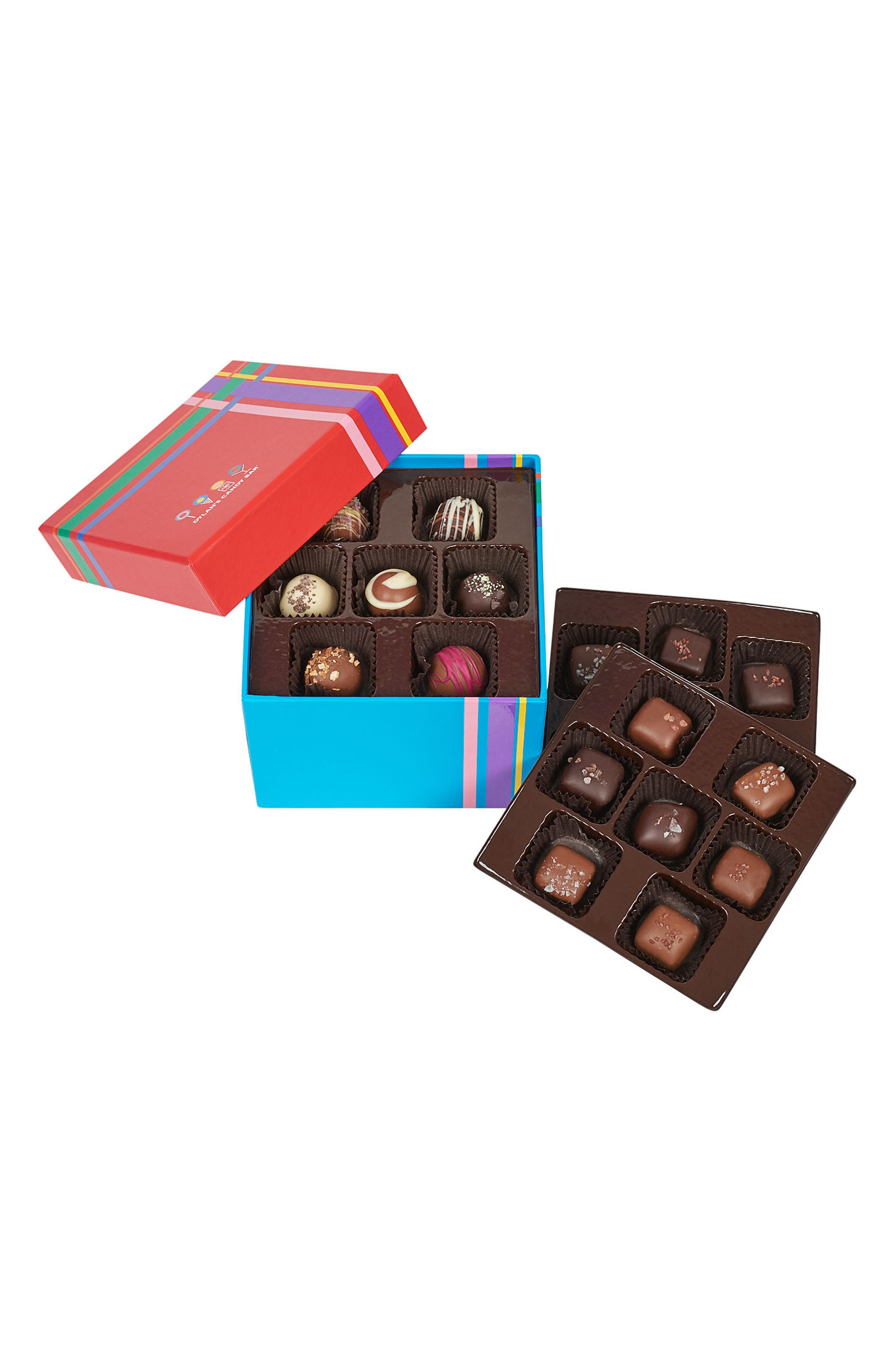 Bar Choc-A-Lot Chocolate Covered Craft Sea Salt Caramels & Truffles Mixed Assortment,                             Alternate thumbnail 3, color,