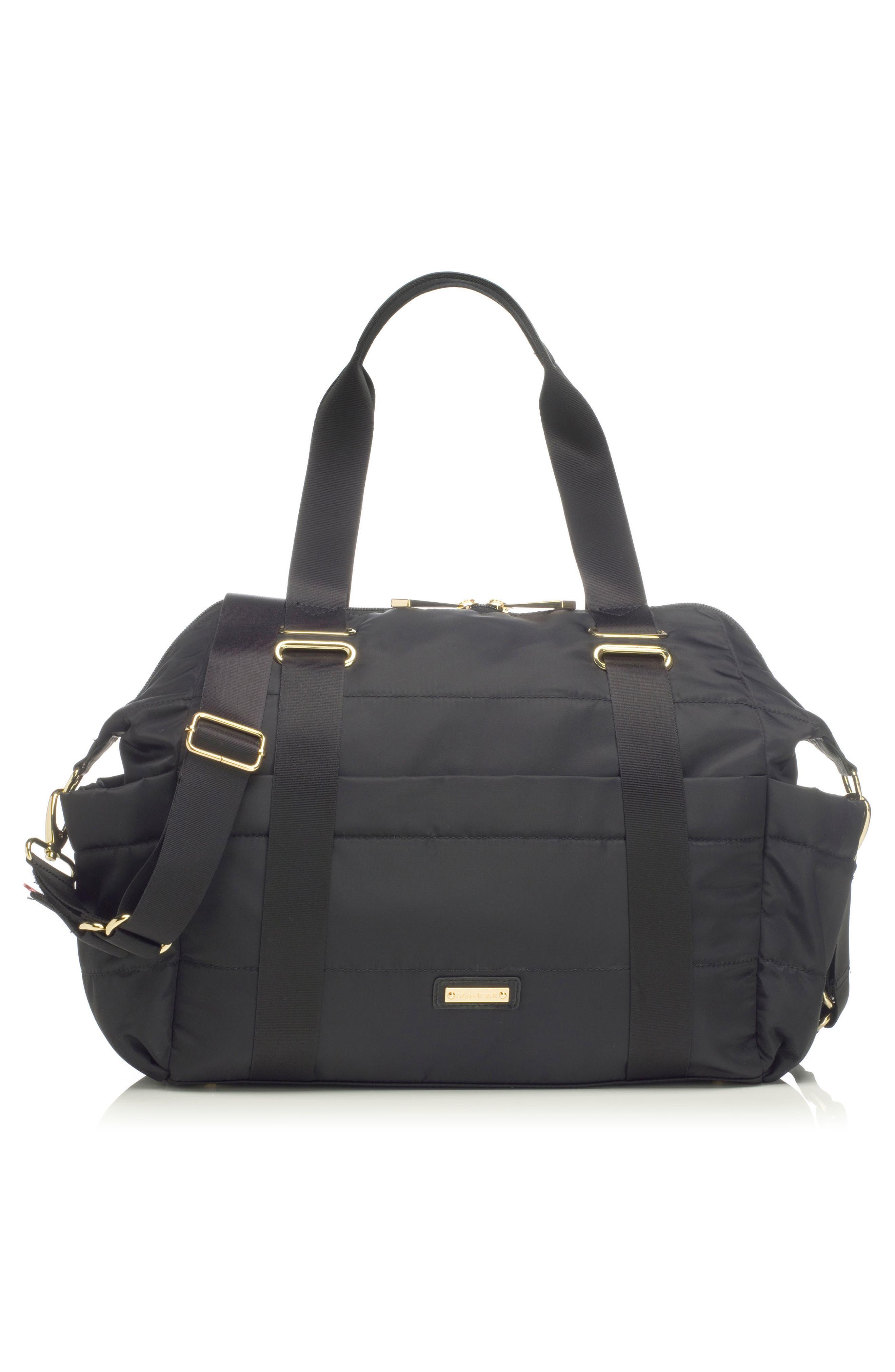 'Sandy' Diaper Bag,                             Alternate thumbnail 10, color,                             BLACK