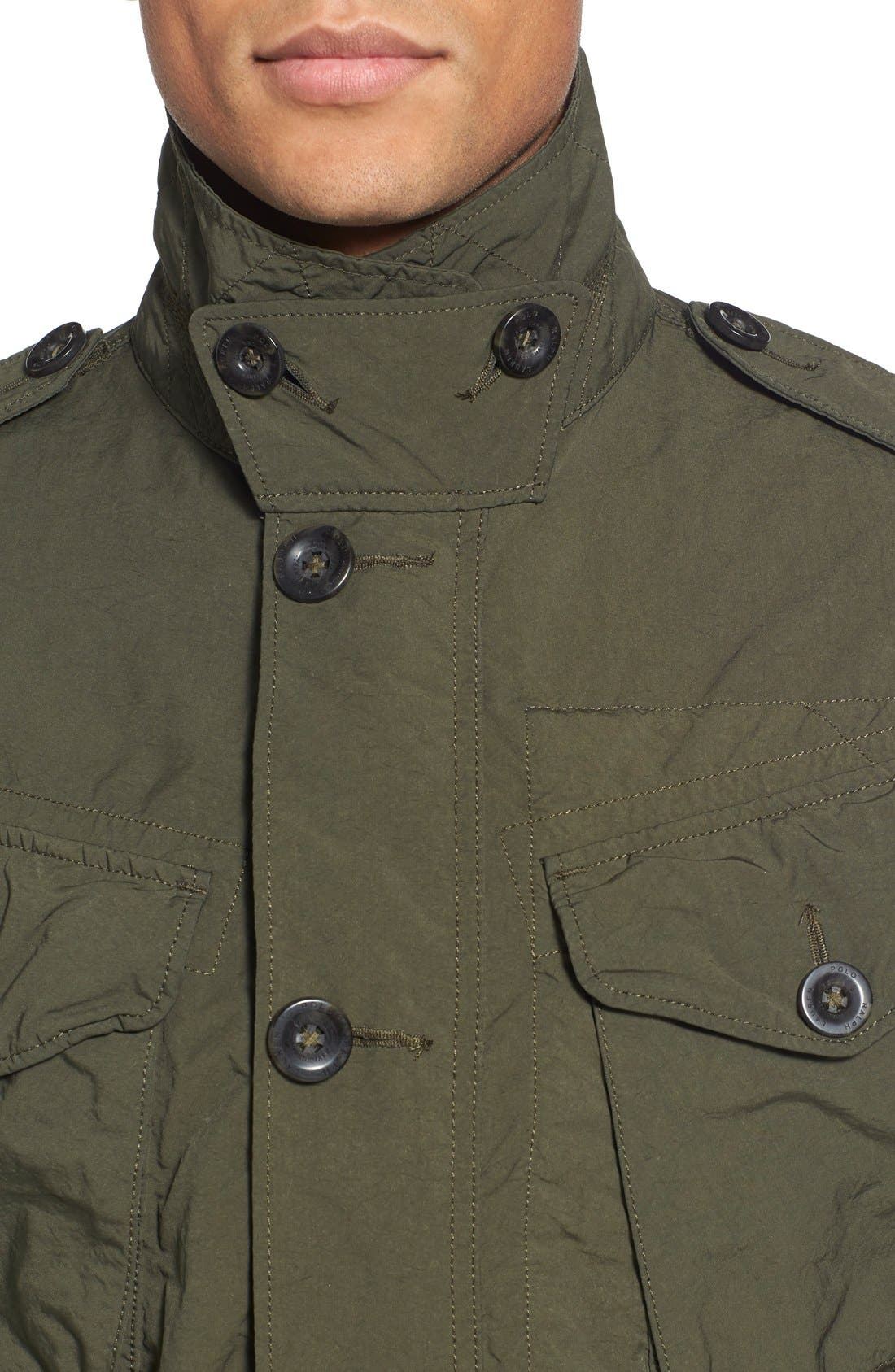 Twill Combat Military Jacket,                             Alternate thumbnail 3, color,                             300