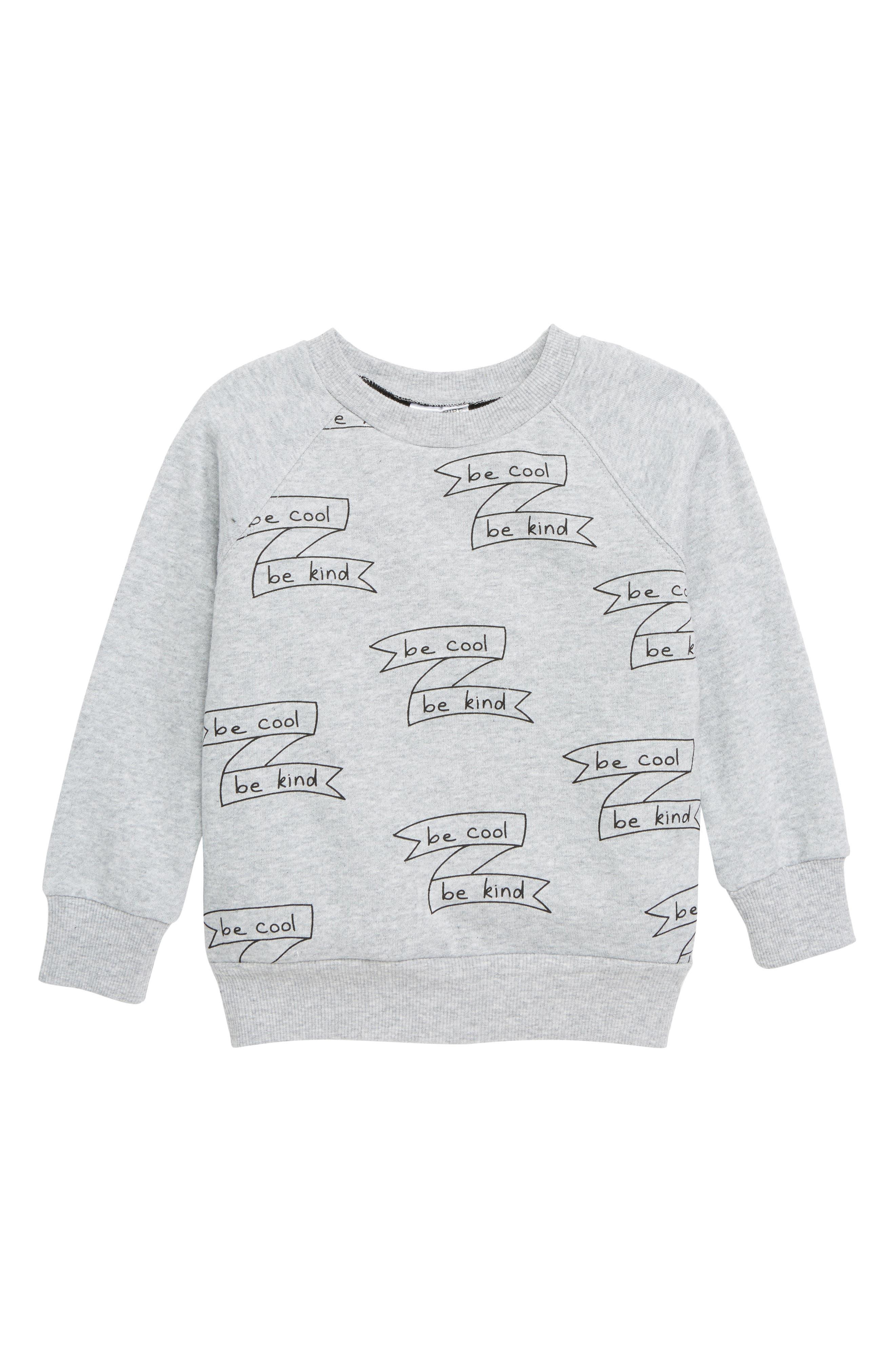 Be Cool Sweatshirt, Main, color, GREY MARLE