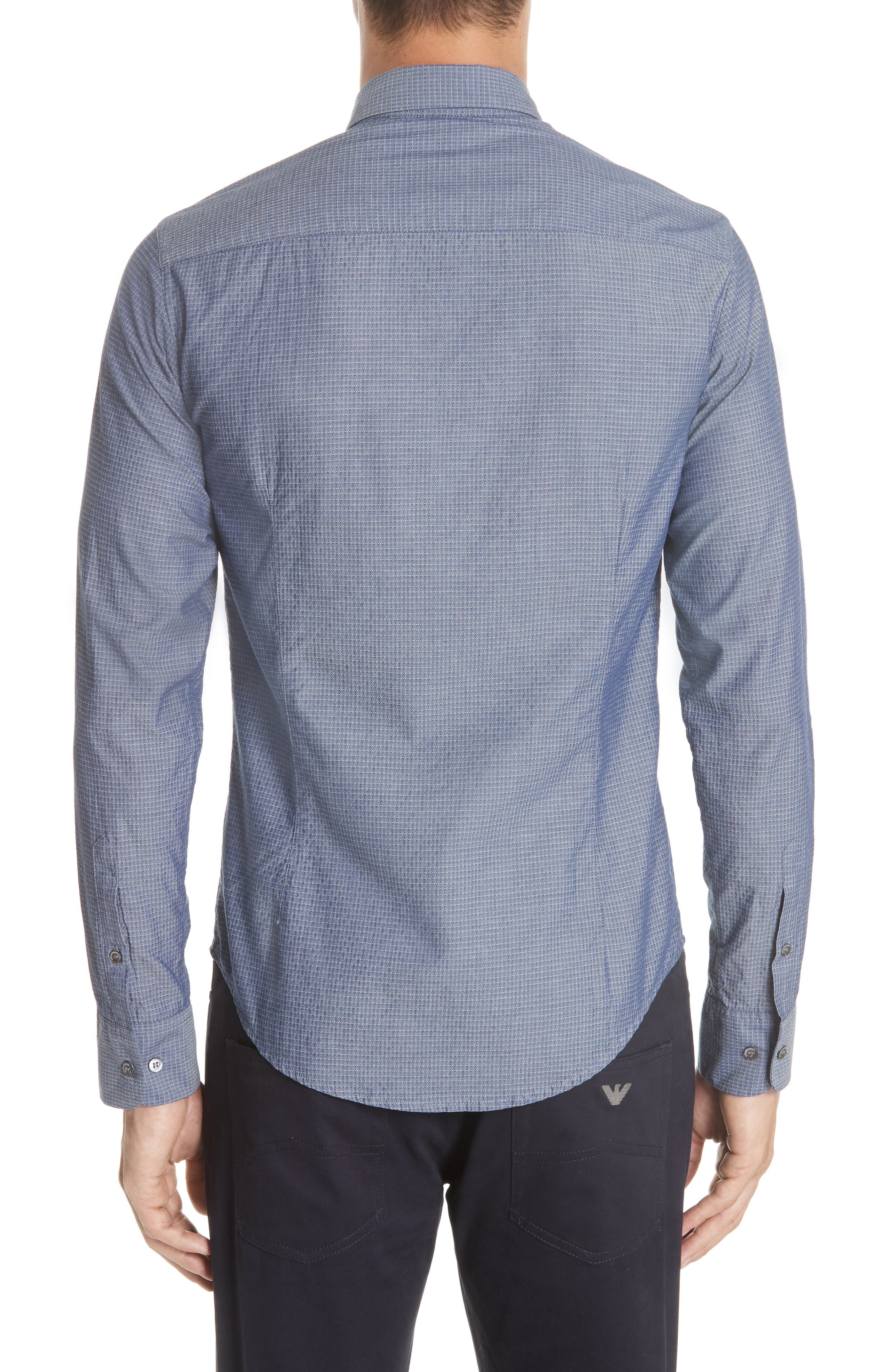Slim Fit Solid Sport Shirt,                             Alternate thumbnail 2, color,                             BLUE MULTI