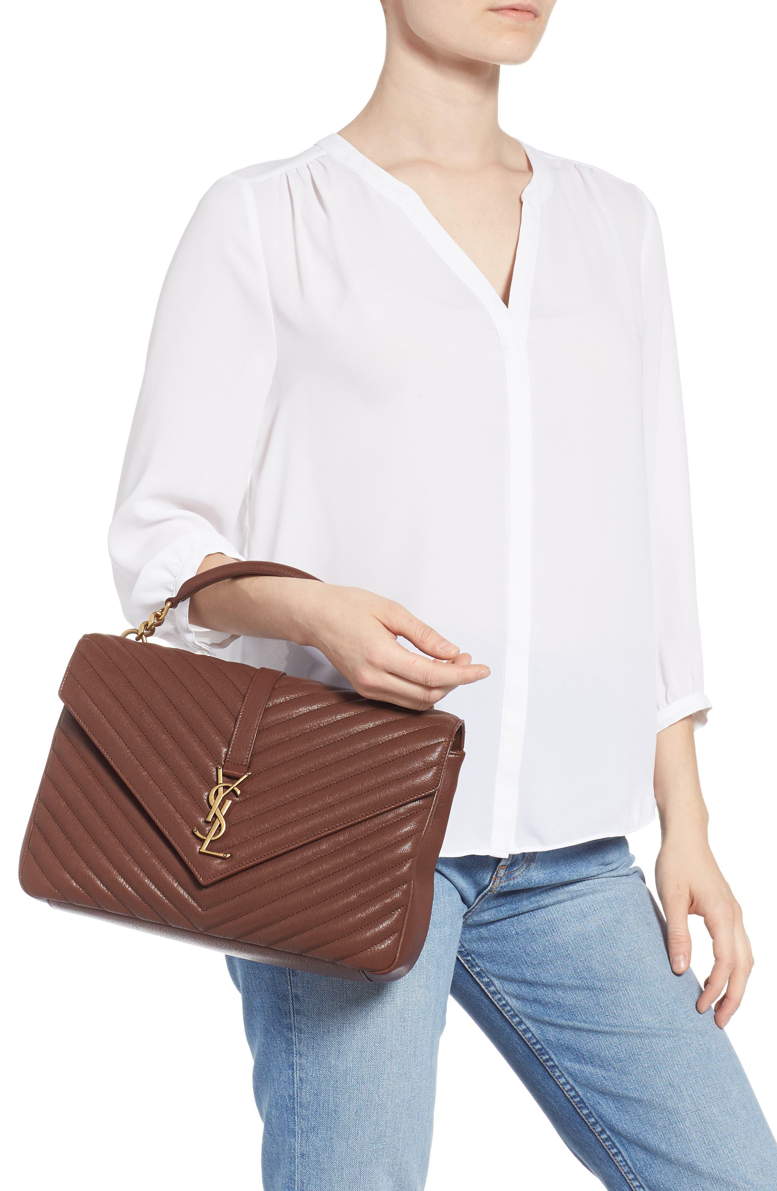 Medium College Shoulder Bag,                             Alternate thumbnail 2, color,                             BRANDY OLD