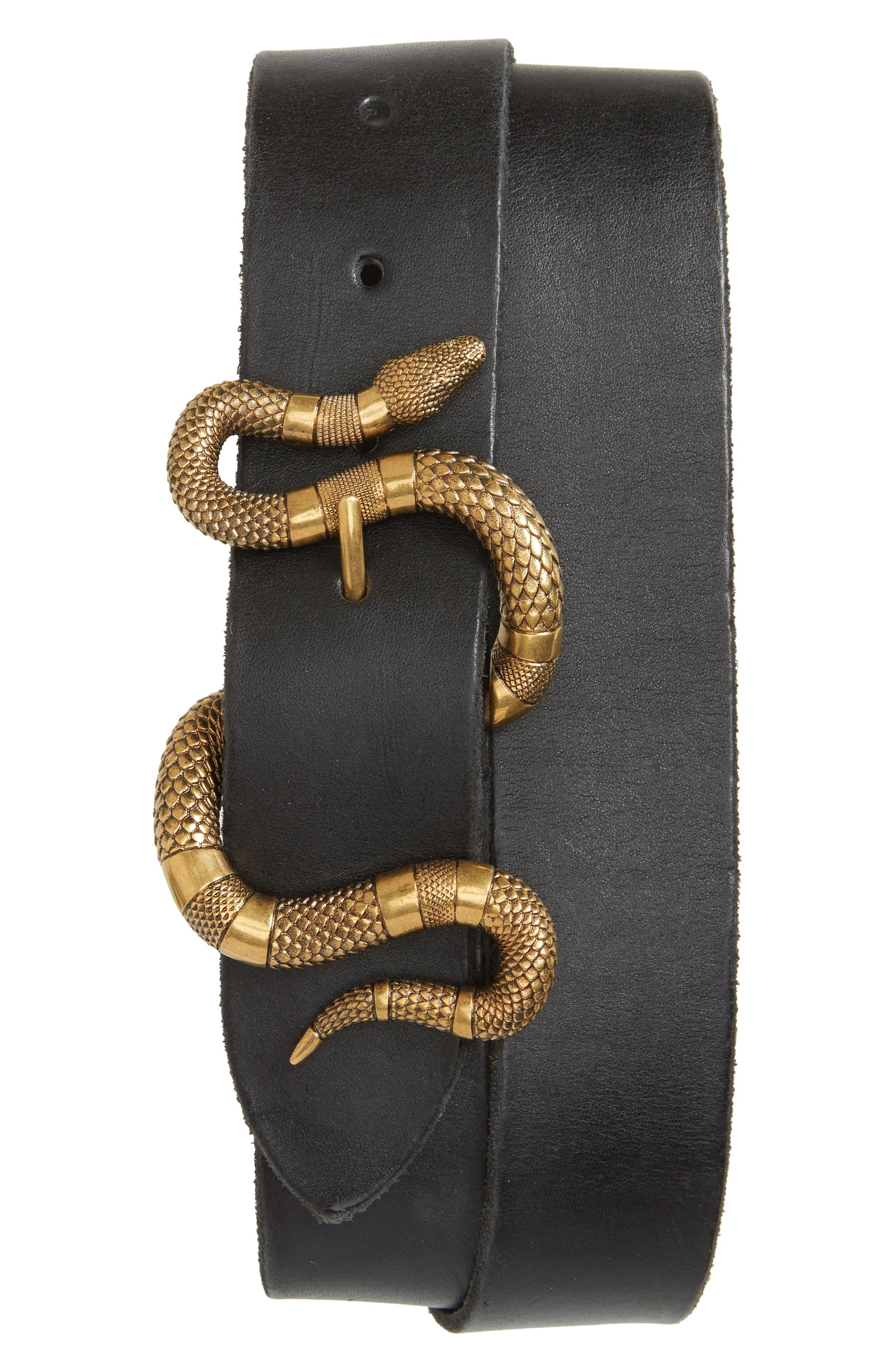 Snake Buckle Belt,                         Main,                         color, 001