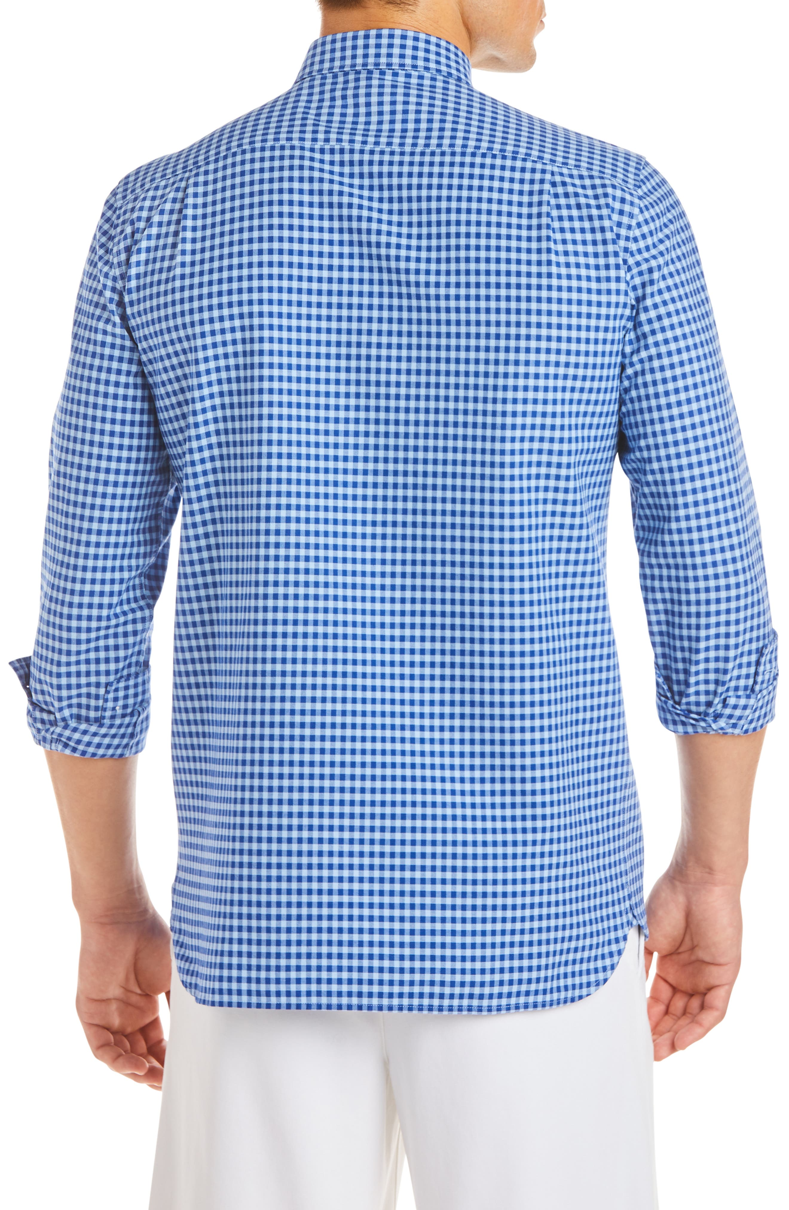 Slim Fit Gingham Sport Shirt,                             Alternate thumbnail 2, color,                             410