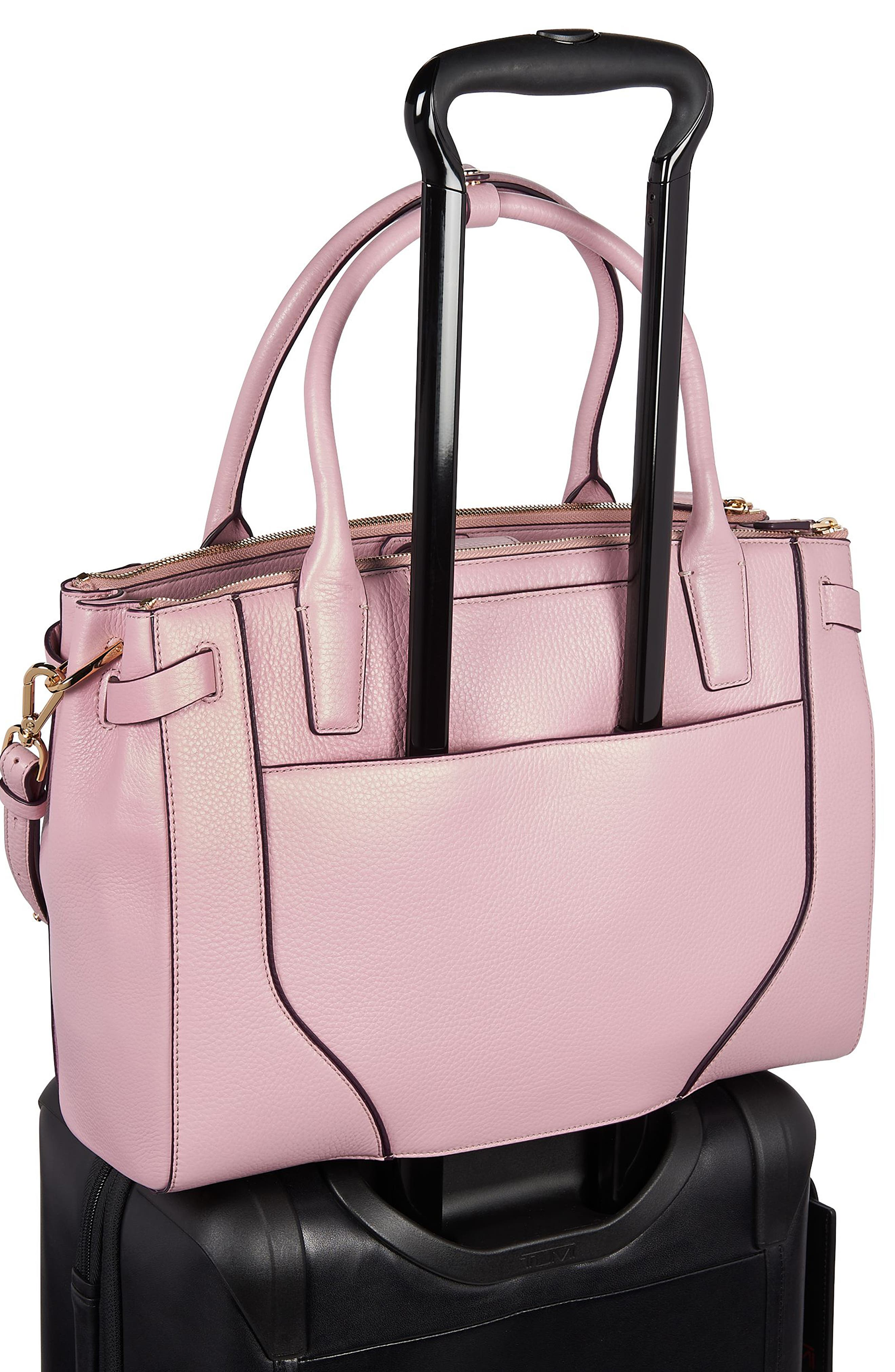 Stanton Kiran Leather Laptop Briefcase,                             Alternate thumbnail 3, color,                             PINK
