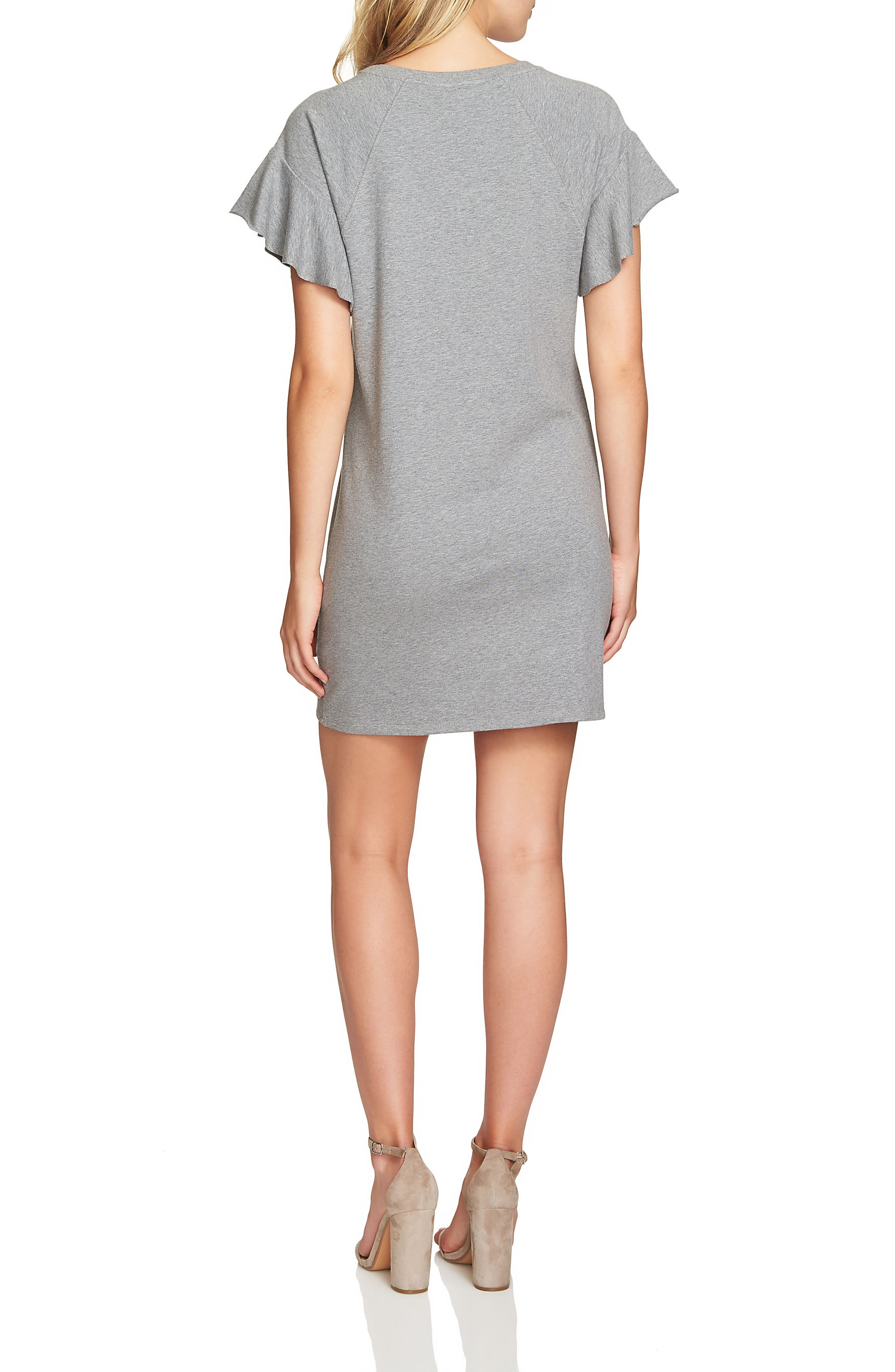 French Terry T-Shirt Dress,                             Alternate thumbnail 3, color,