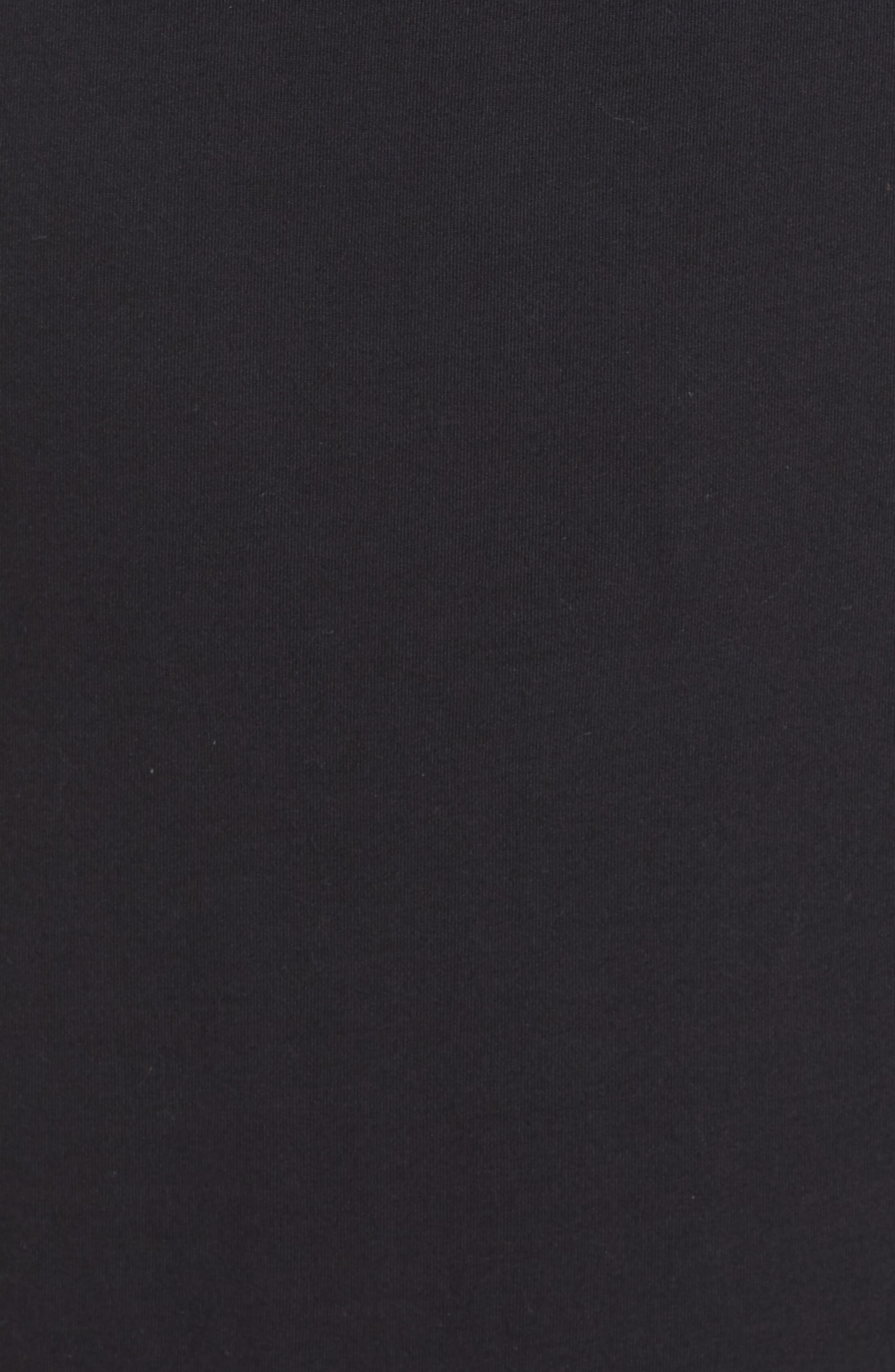 Knit Drawstring Waist Maxi Dress,                             Alternate thumbnail 4, color,                             BLACK