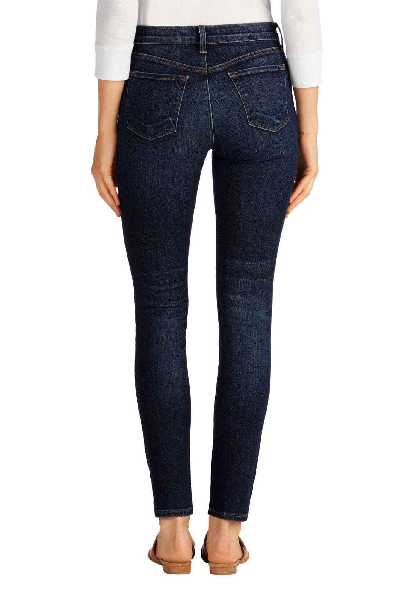 Maria High Waist Skinny Jeans,                             Alternate thumbnail 28, color,