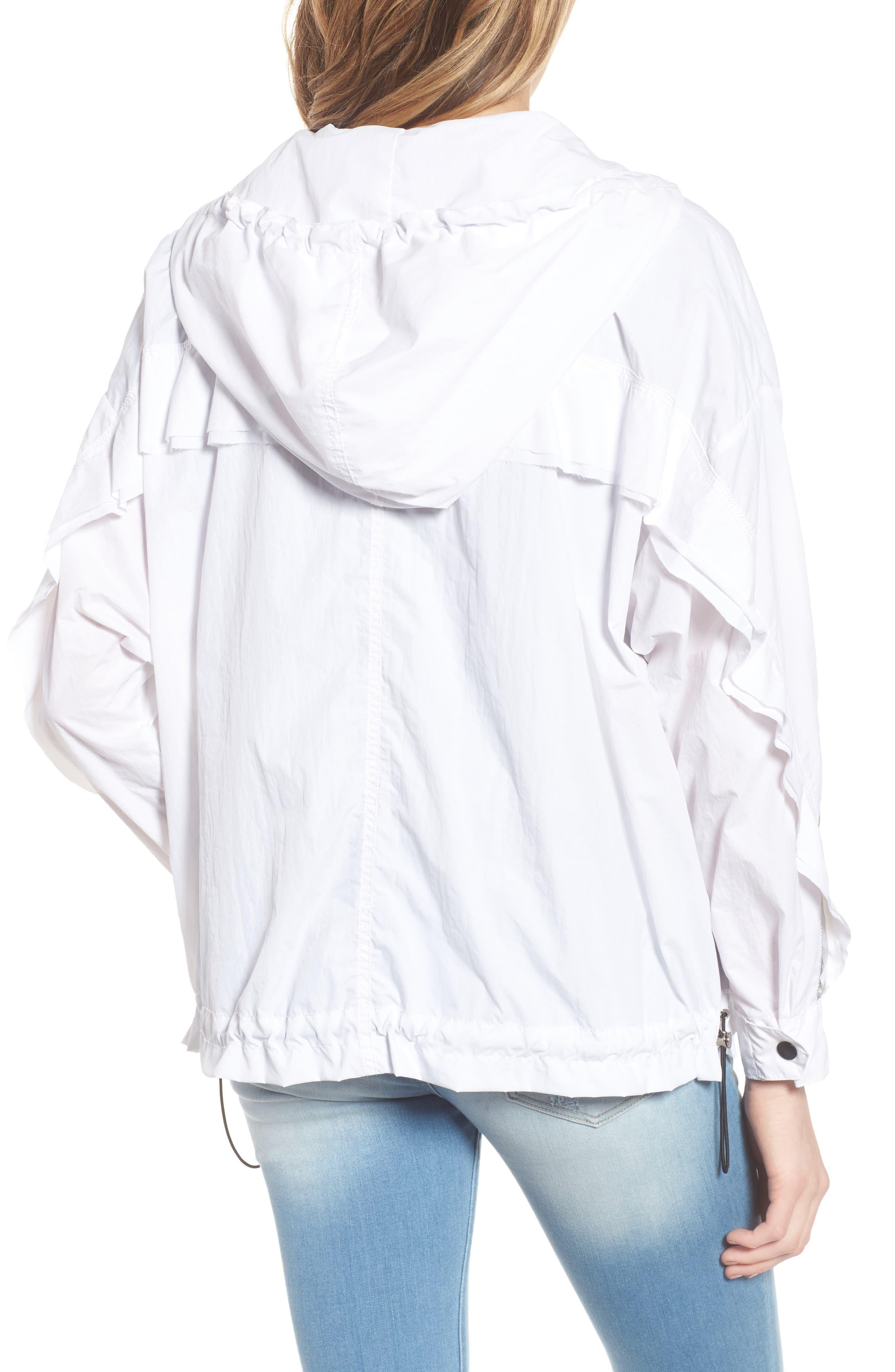 Metallic Stripe Windbreaker Jacket,                             Alternate thumbnail 2, color,