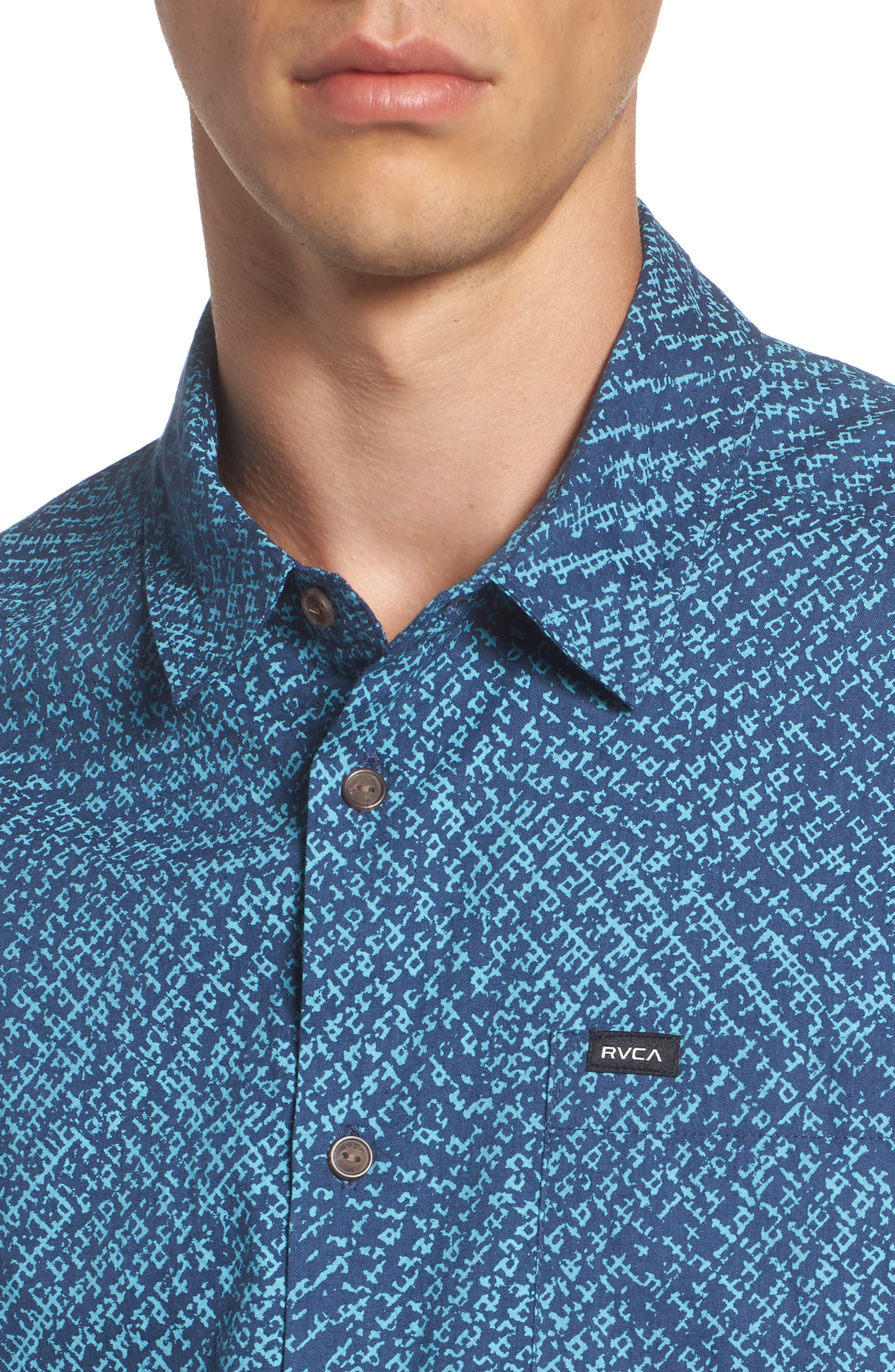Grid Woven Shirt,                             Alternate thumbnail 4, color,                             497