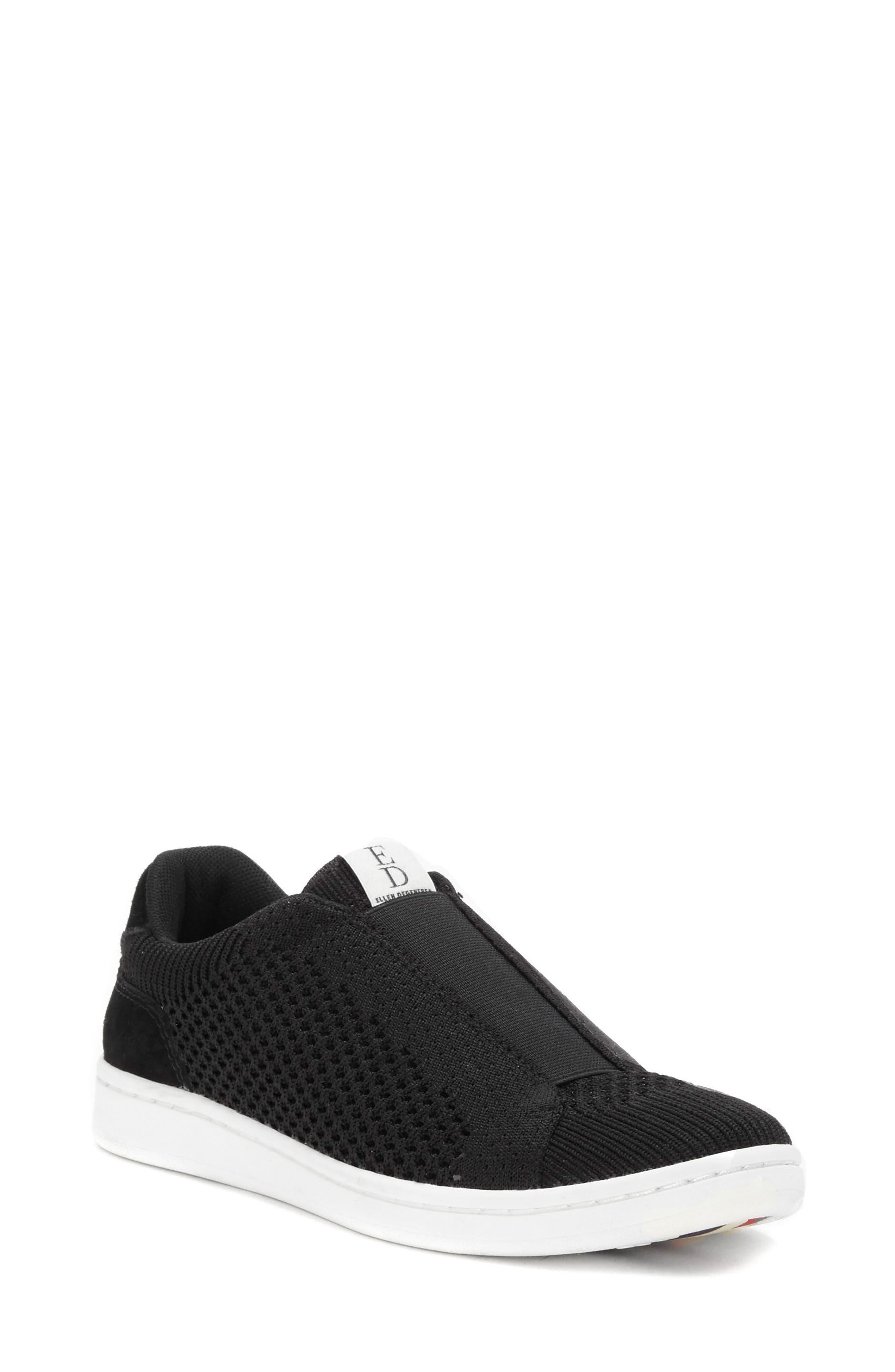 Casbey Slip-On Sneaker,                             Main thumbnail 1, color,                             BLACK/ BLACK FABRIC