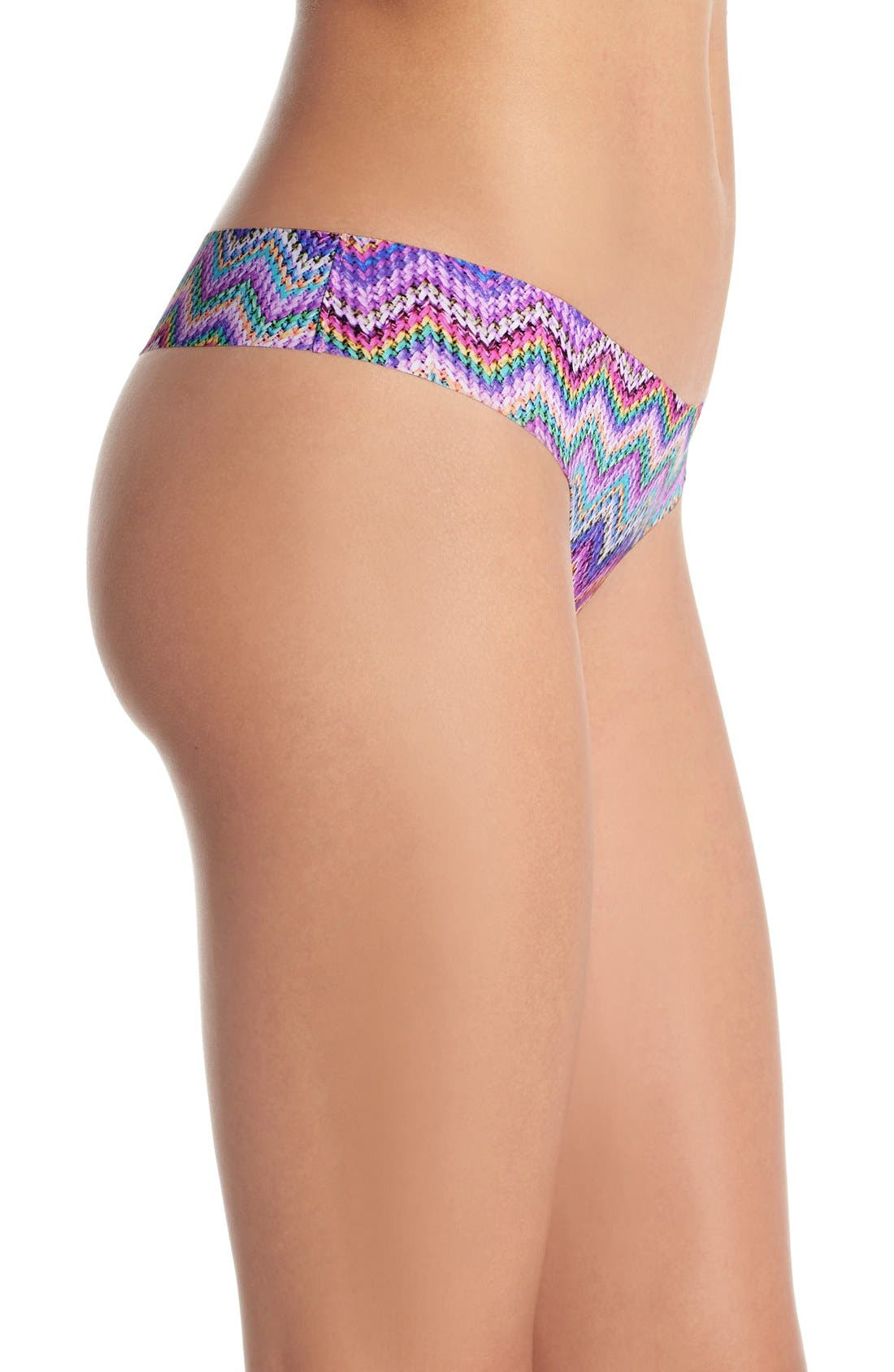 Print Microfiber Thong,                             Alternate thumbnail 181, color,