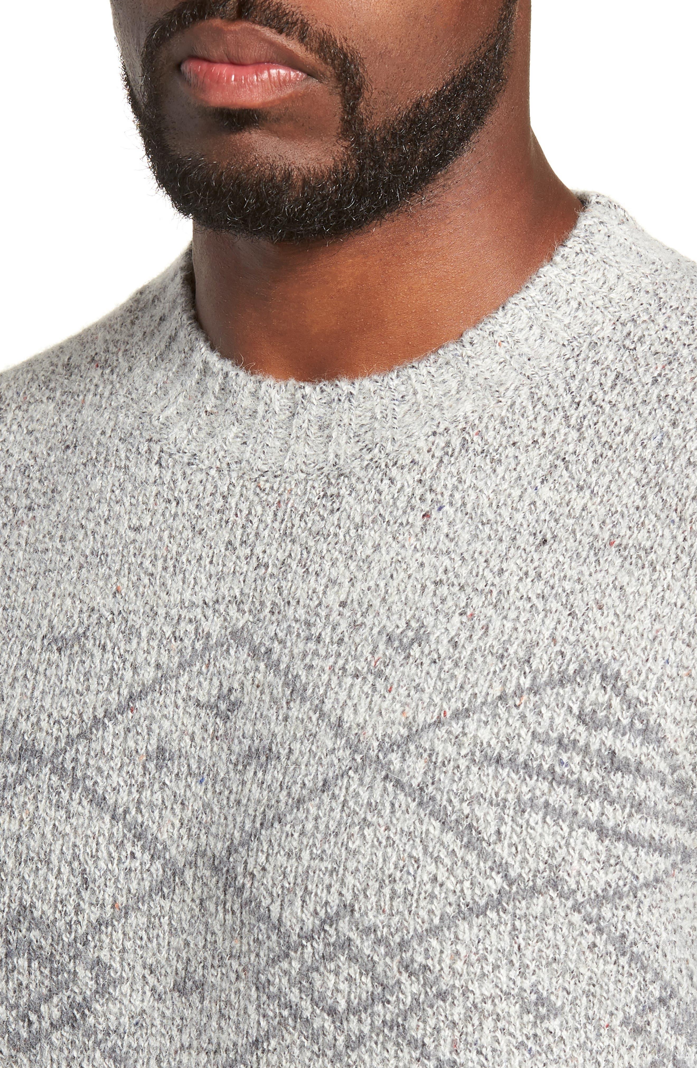 Fair Isle Regular Fit Sweater,                             Alternate thumbnail 4, color,                             060