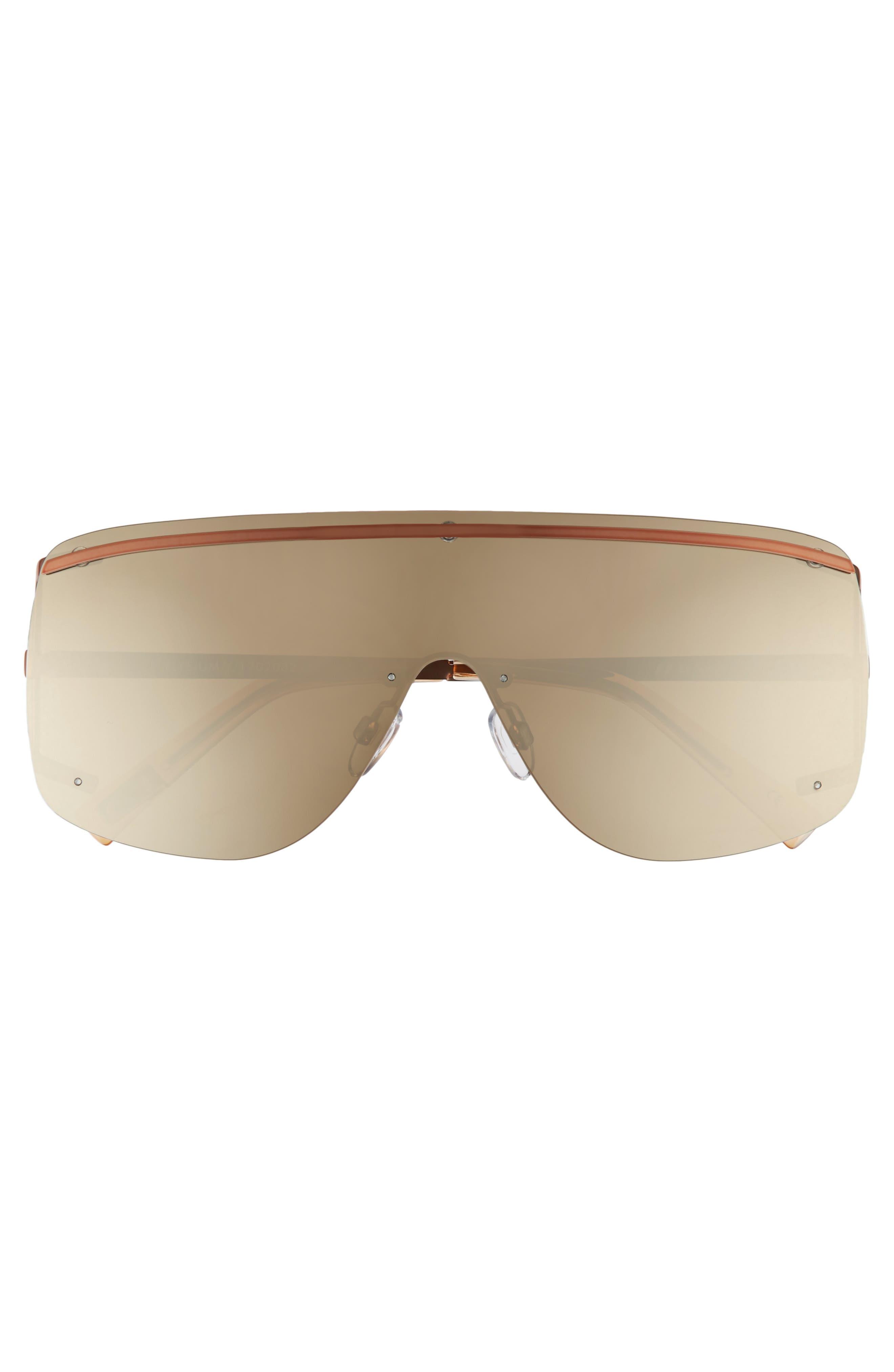 Elysium 140mm Shield Sunglasses,                             Alternate thumbnail 3, color,                             COPPER