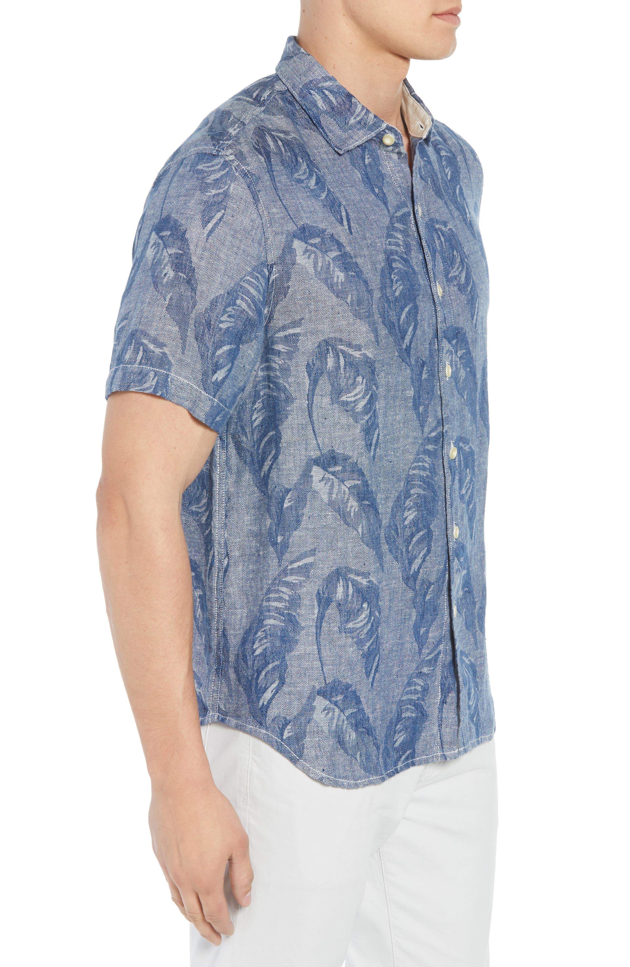 Help Me Fronda Linen Camp Shirt,                             Alternate thumbnail 3, color,                             401
