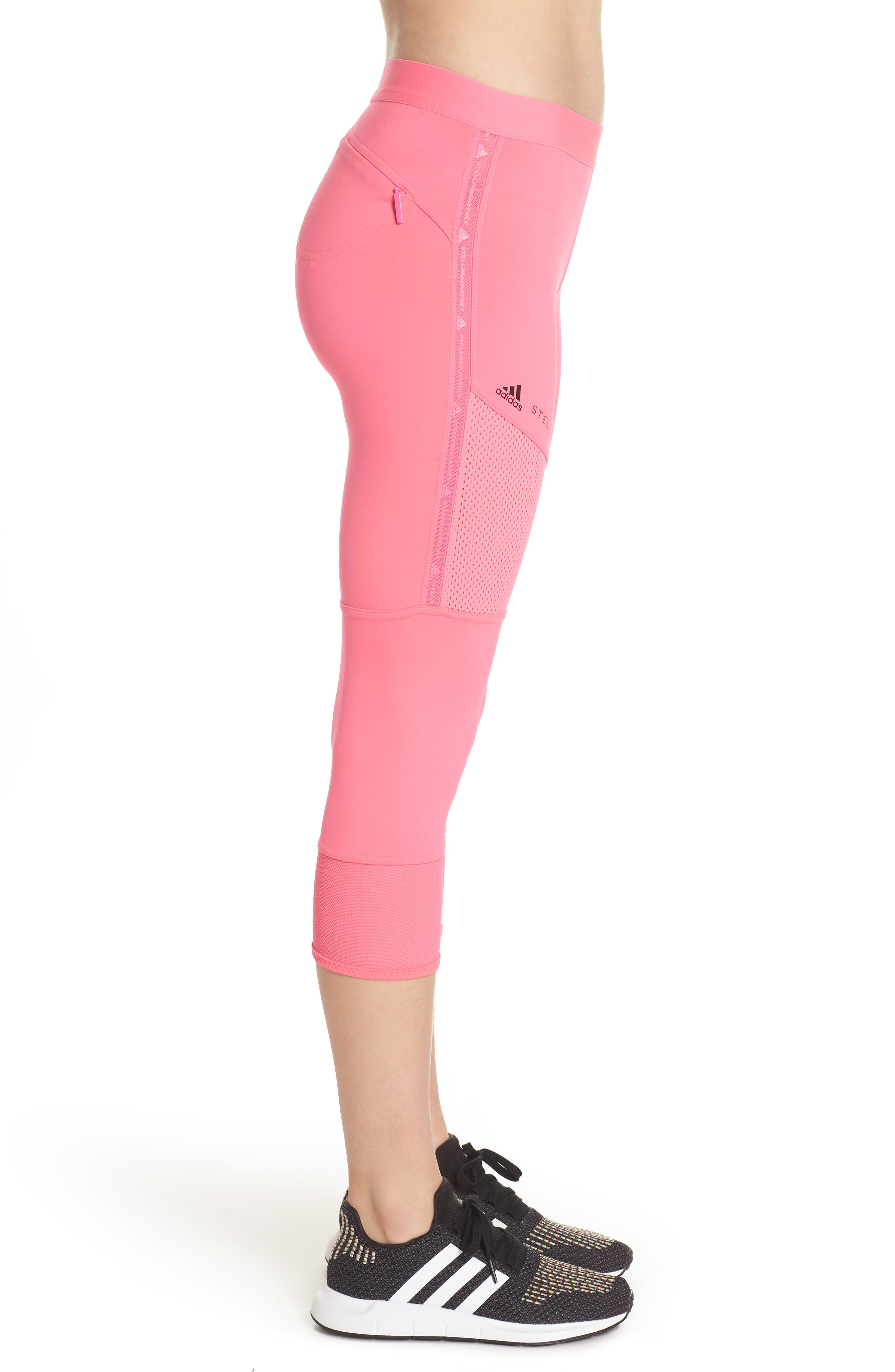 Performance Essentials Crop Leggings,                             Alternate thumbnail 3, color,                             SOLAR PINK