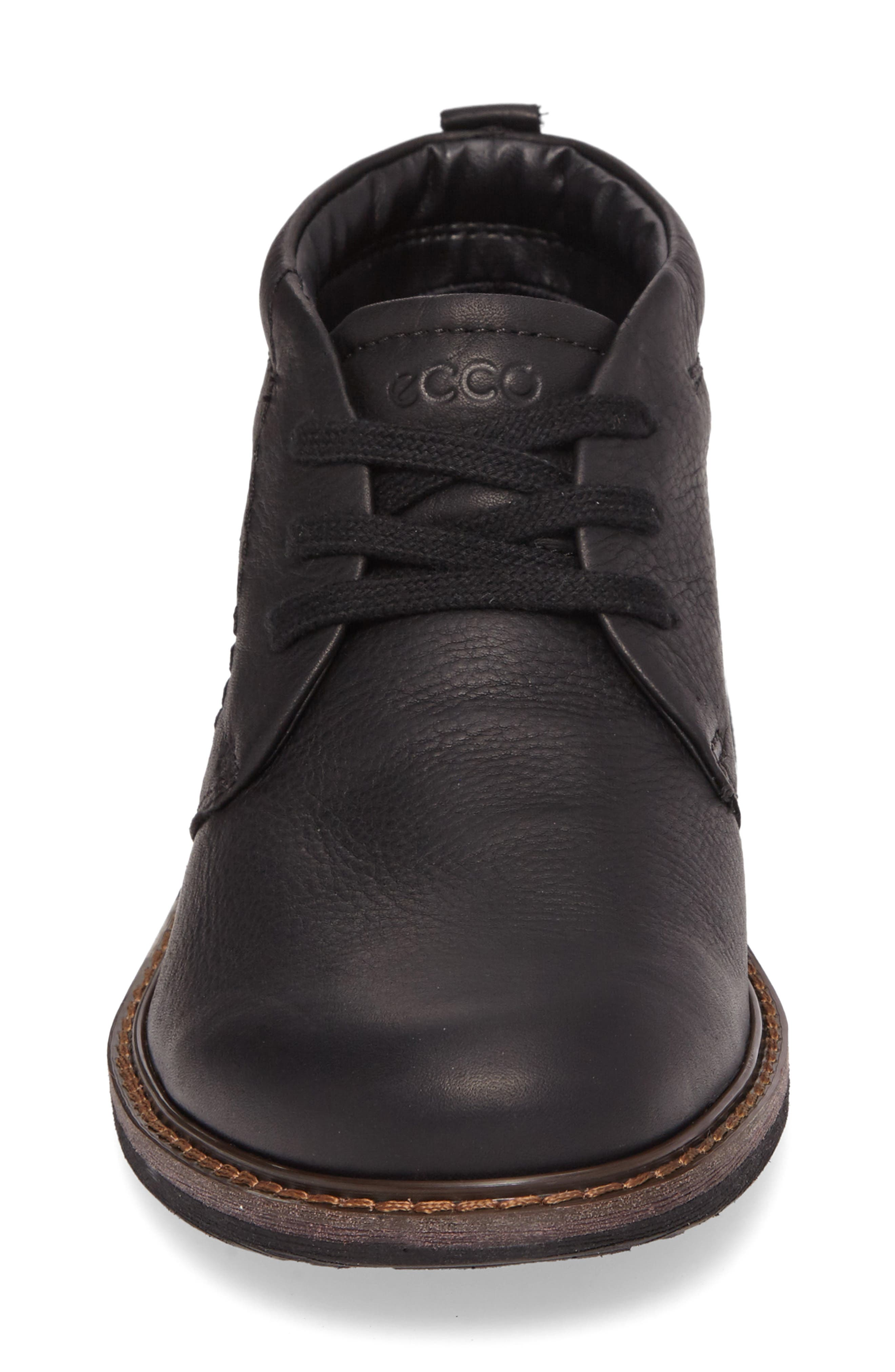 Turn Gore-Tex<sup>®</sup> Waterproof Chukka Boot,                             Alternate thumbnail 4, color,                             BLACK NUBUCK
