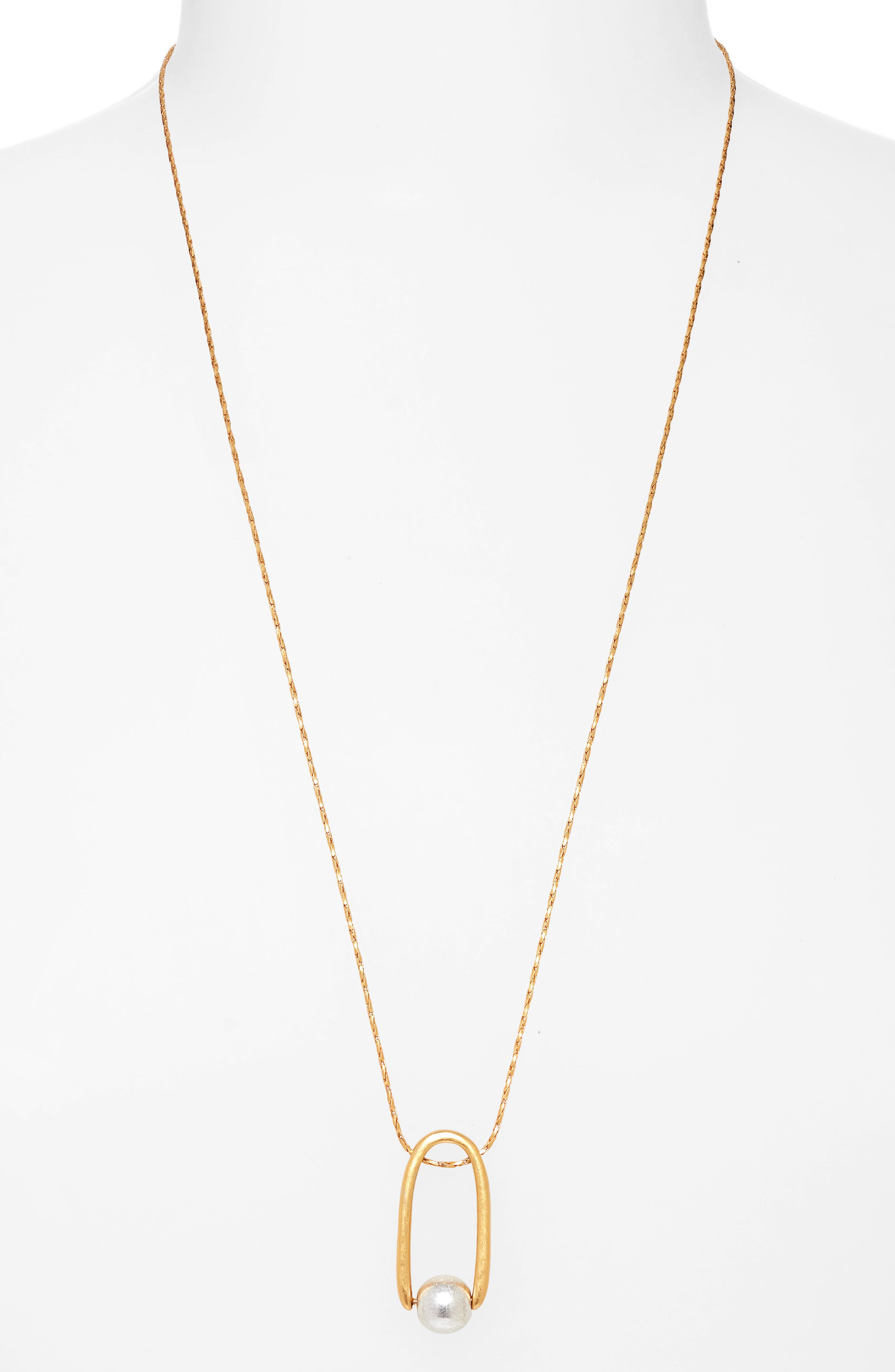 Pinball Pendant Necklace,                         Main,                         color, 710