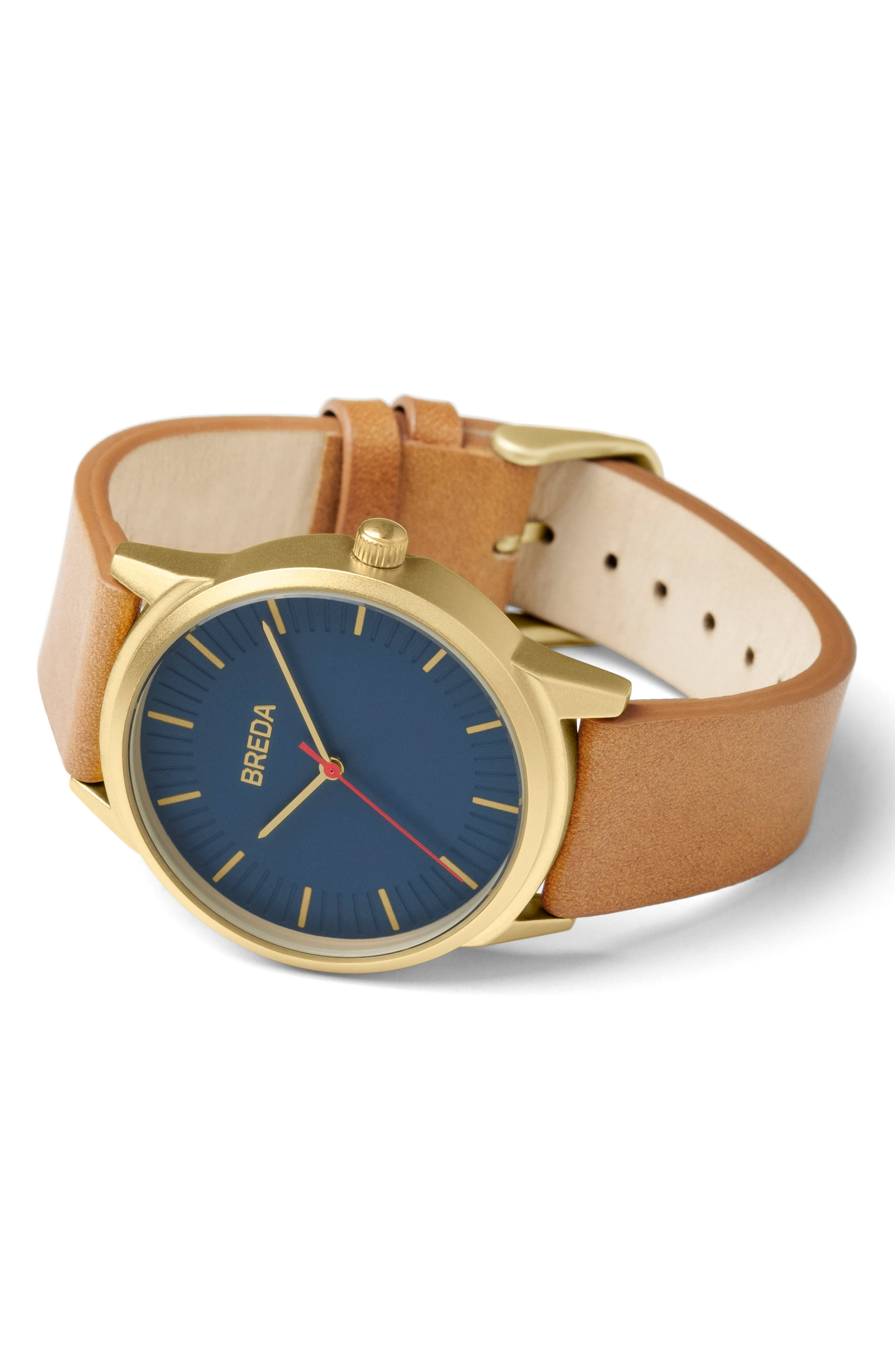 Bresson Leather Strap Watch, 42mm,                             Alternate thumbnail 2, color,                             200