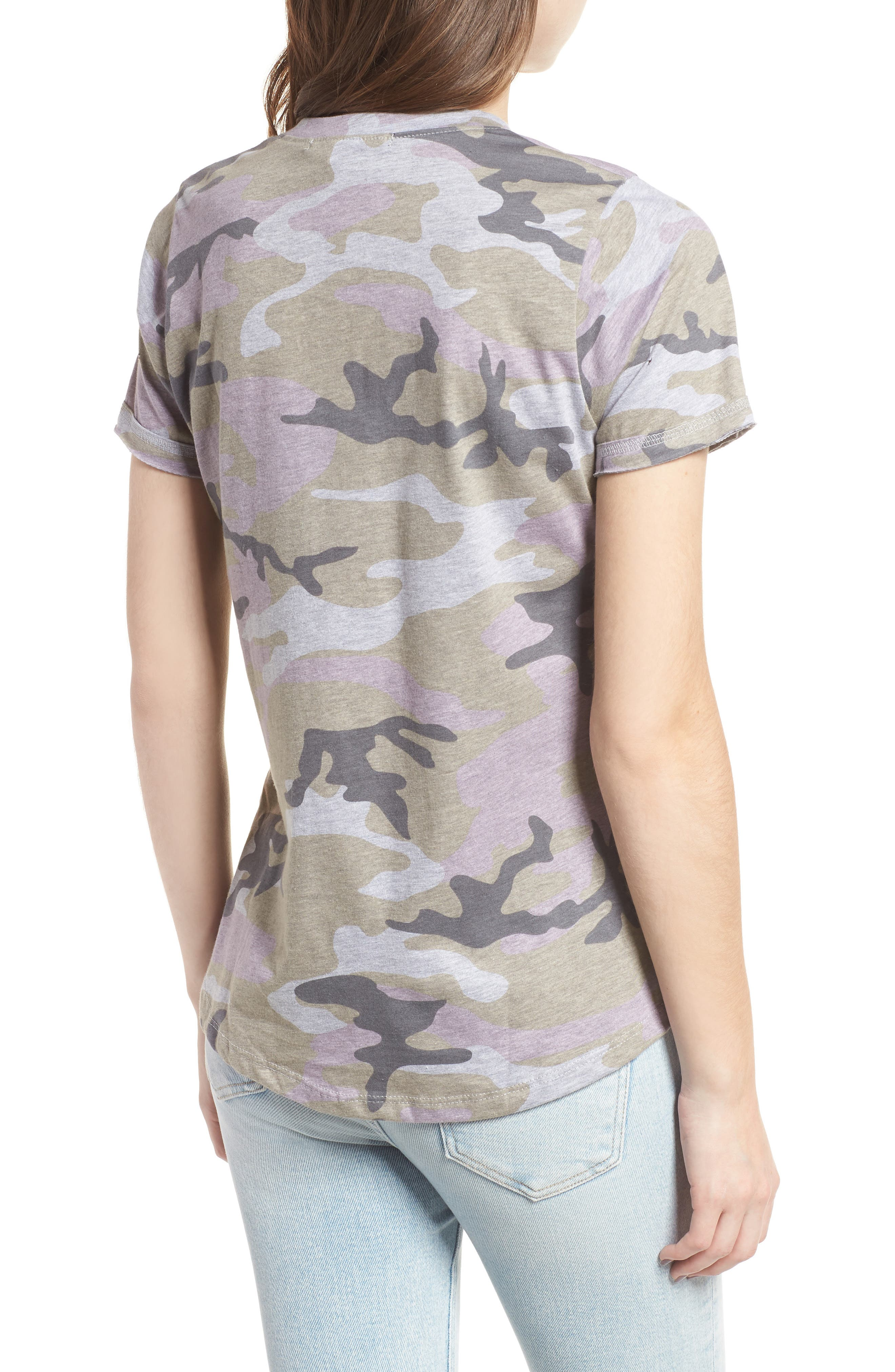 Distressed Camo Tee,                             Alternate thumbnail 2, color,                             350