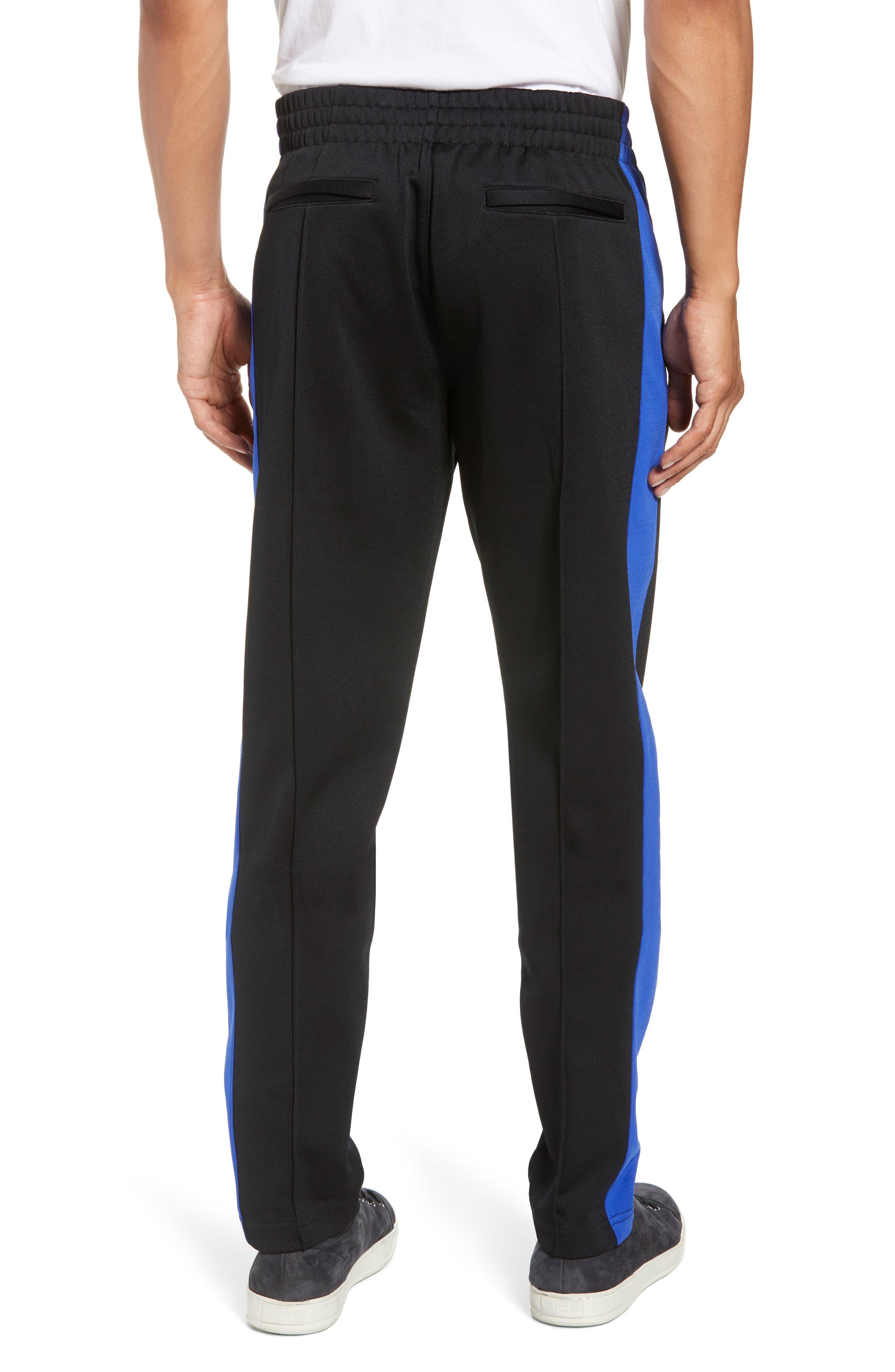 Stripe Track Pants,                             Alternate thumbnail 2, color,                             BLUE/ WHITE/ BLACK