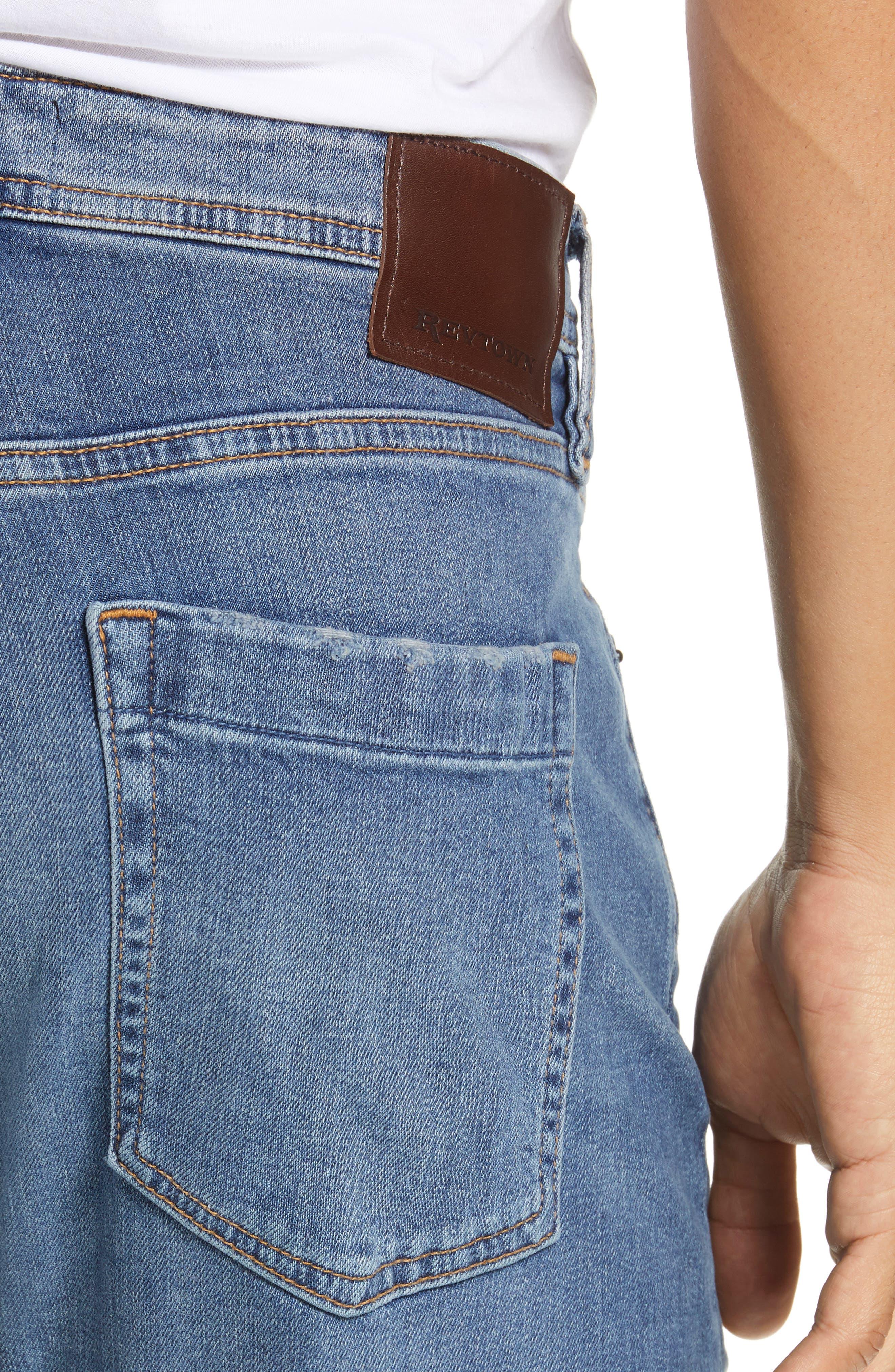 Automatic Straight Leg Jeans,                             Alternate thumbnail 4, color,                             FADED INDIGO