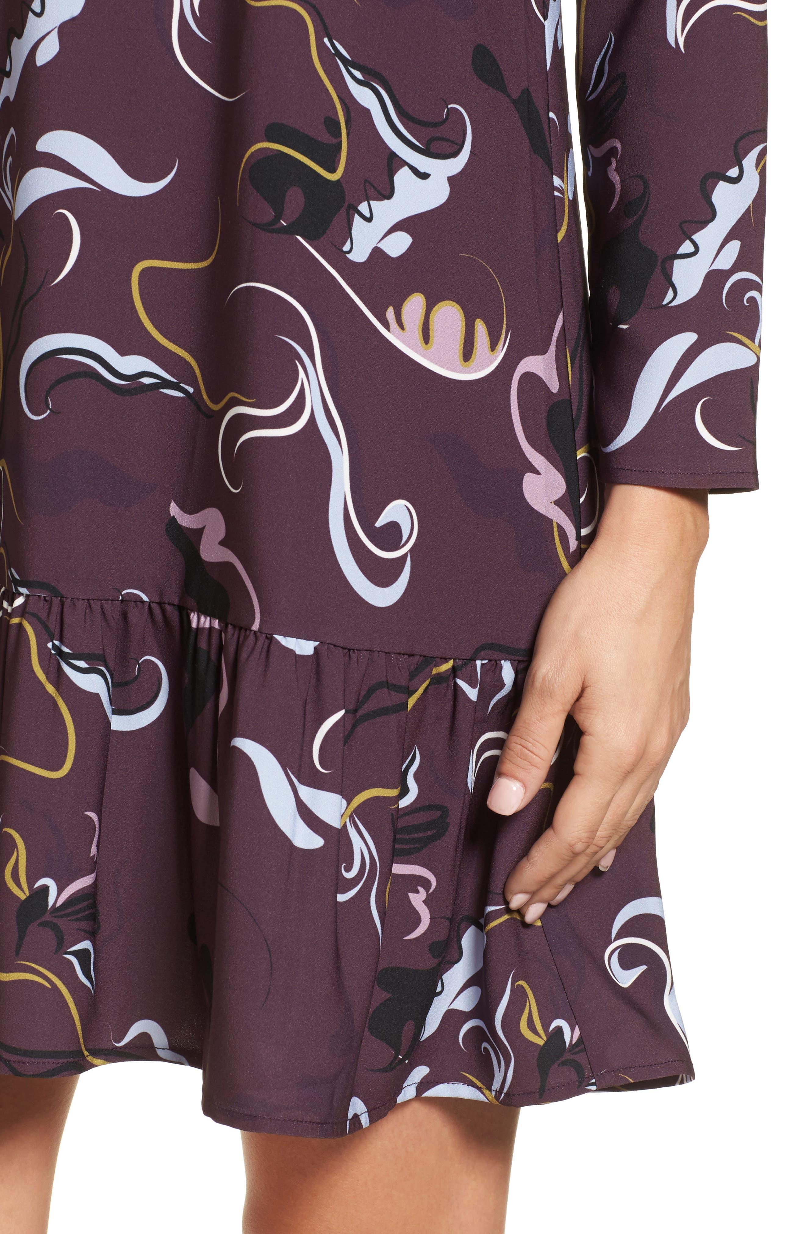 Button Back Ruffle Hem Dress,                             Alternate thumbnail 37, color,