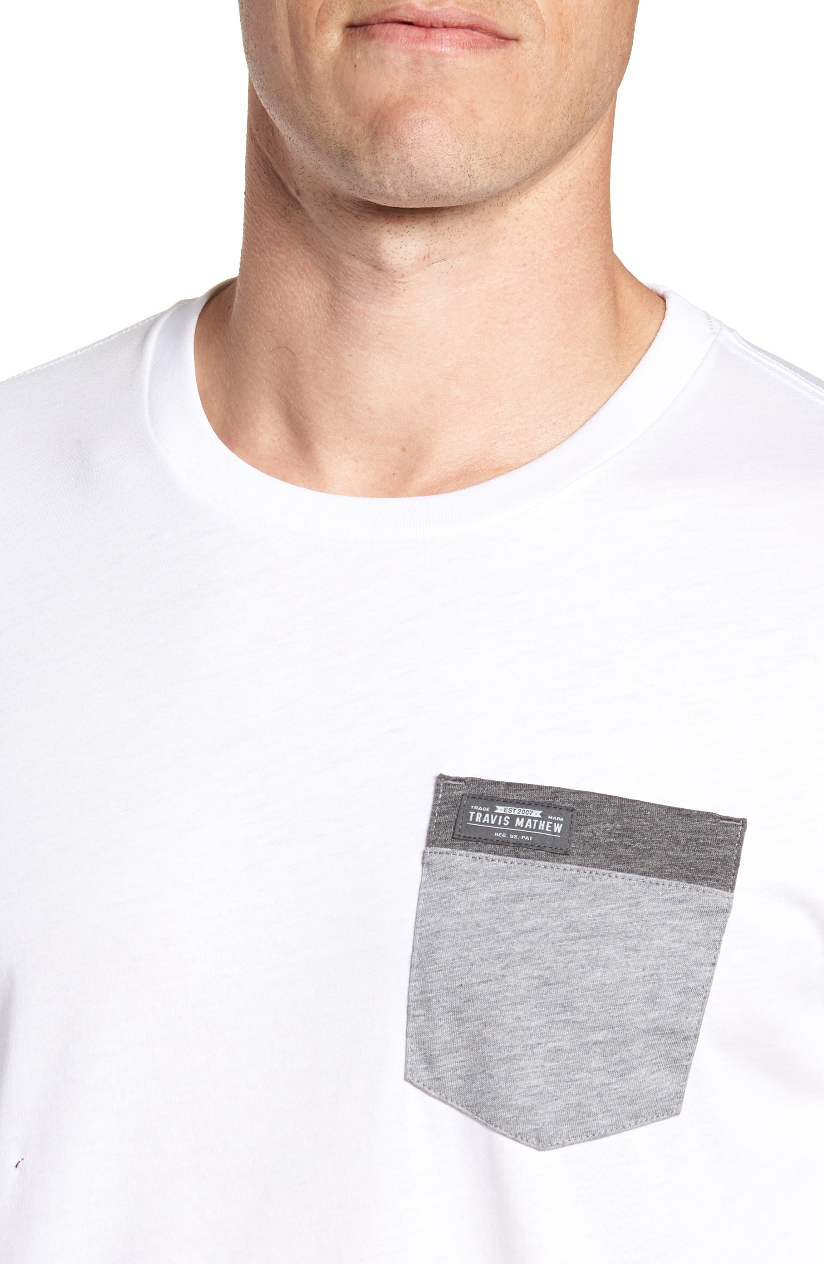 Muska Pocket T-Shirt,                             Alternate thumbnail 4, color,                             100
