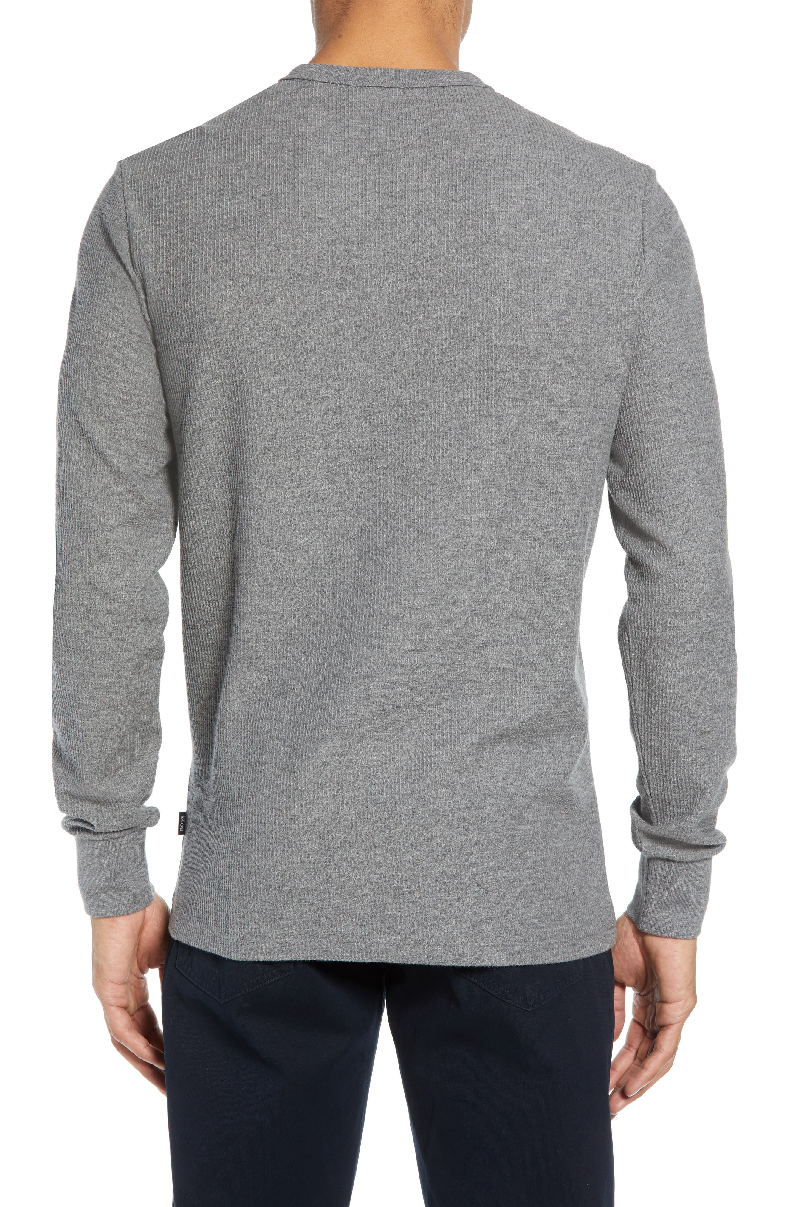 Textor Quarter Zip Thermal T-Shirt,                             Alternate thumbnail 2, color,                             GREY